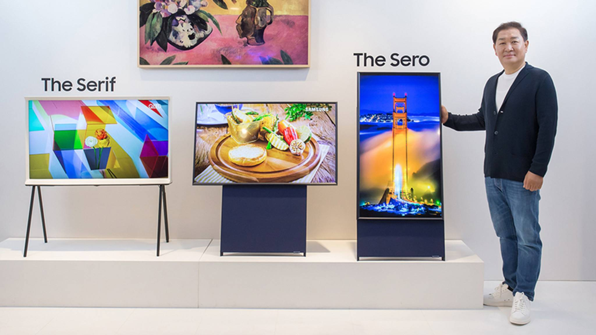 """""""The Sero"""" ist ein vertikal drehbarer TV von Samsung."""