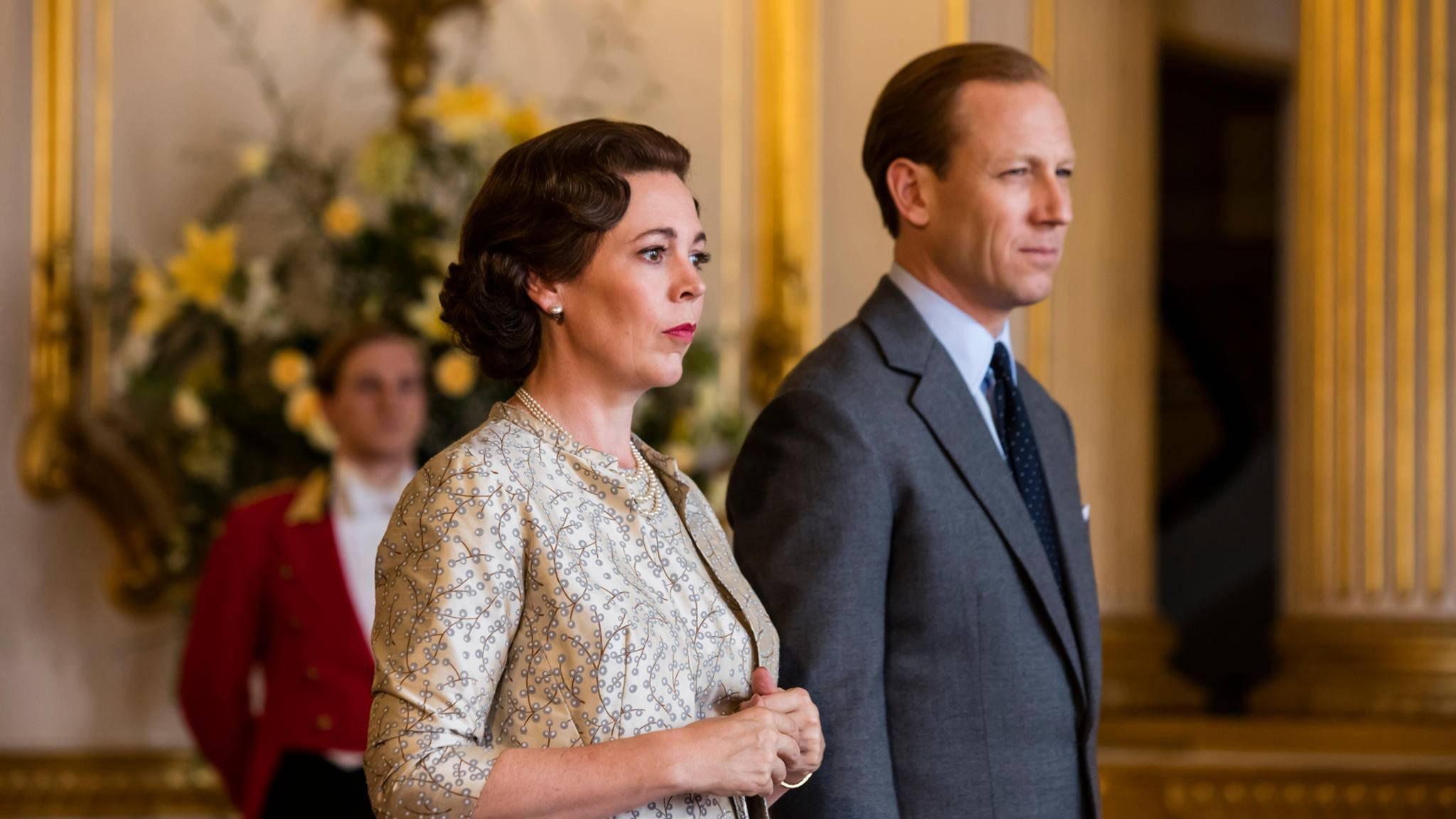 In Staffel 4 bekommen die Queen (Olivia Colman) und ihr Prinzgemahl (Tobias Menzies) Diana Spencer als Schwiegertochter.