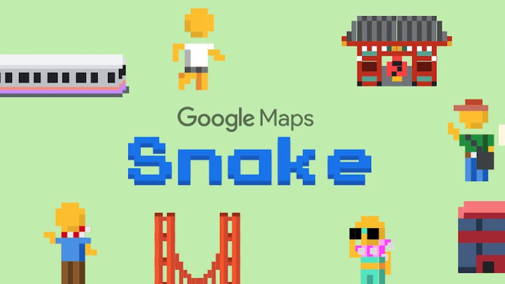 """Lust auf eine Runde """"Snake"""" in Google Maps?"""