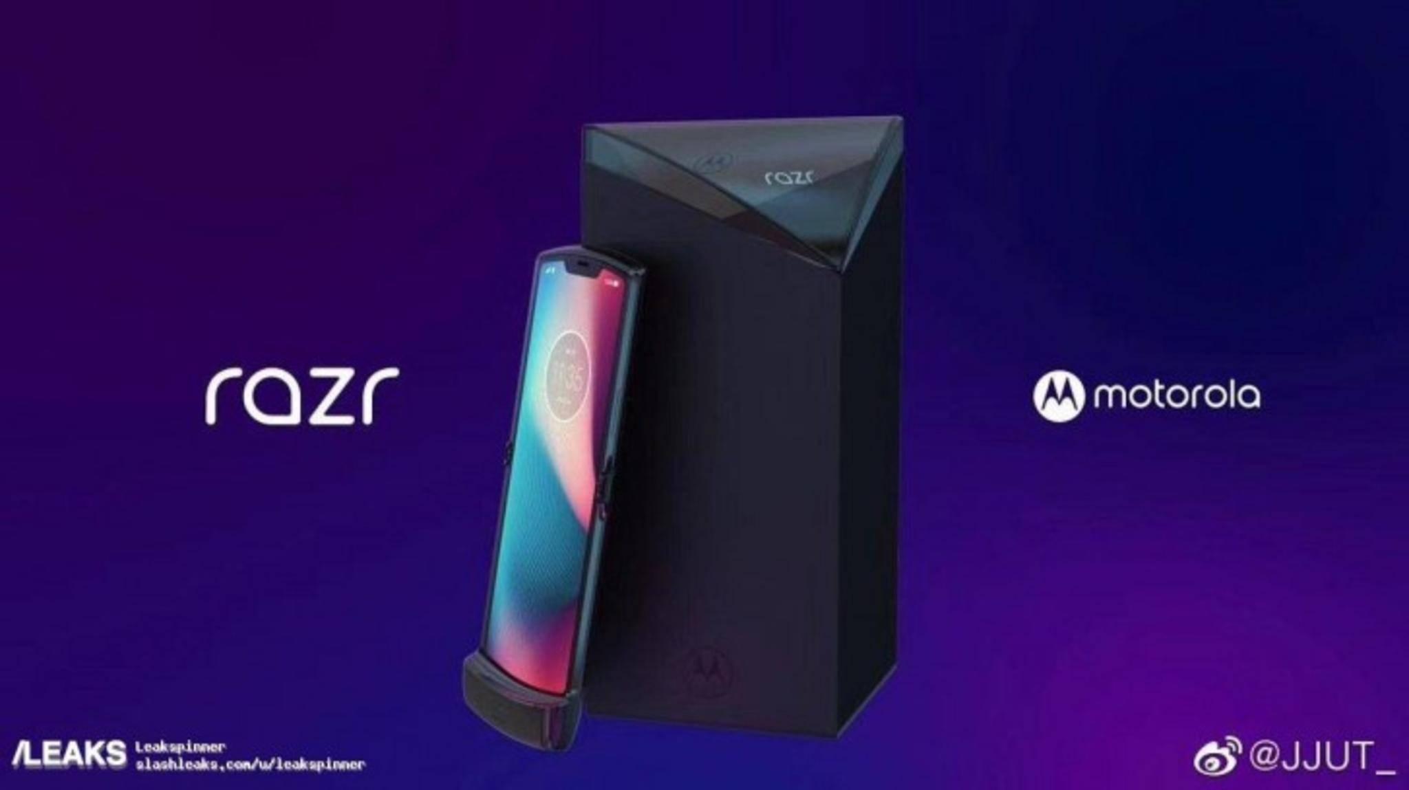 Das Motorola Razr V4 zeigt sich das erste Mal auf angeblichen Presserendern.