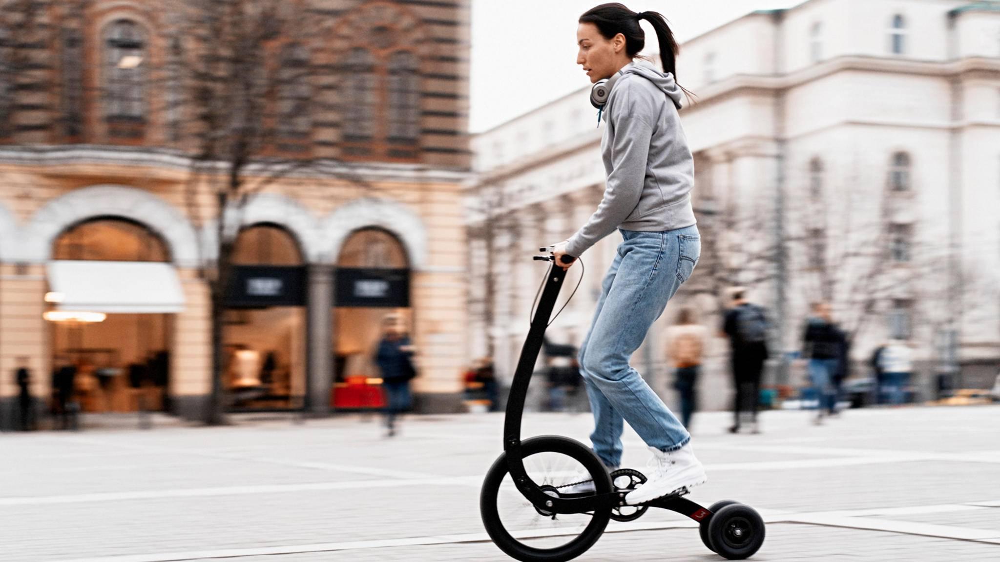 Ohne Sattel, ganz reduziert: Das Halfbike 3 soll vor allem in der Stadt zum Einsatz kommen.