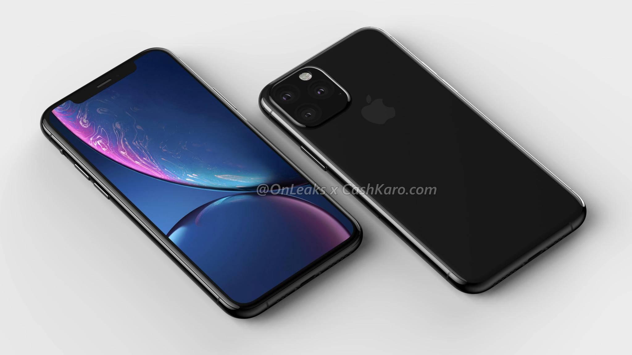 Mit Ausnahme der Triple-Kamera ändert sich optisch offenbar nicht viel beim iPhone 2019.
