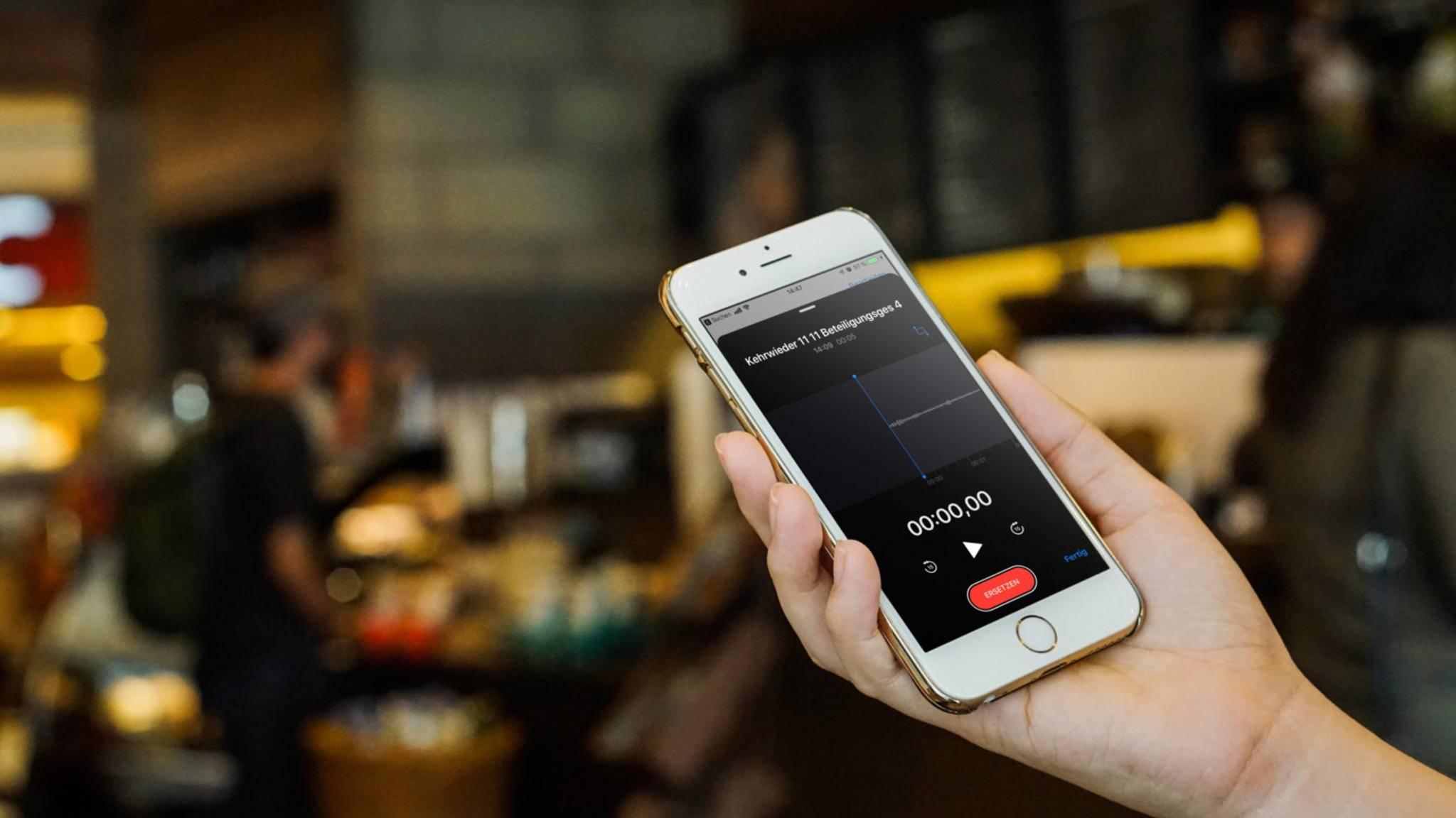 Sprachmemo auf dem iPhone aufnehmen, teilen und bearbeiten: So geht's