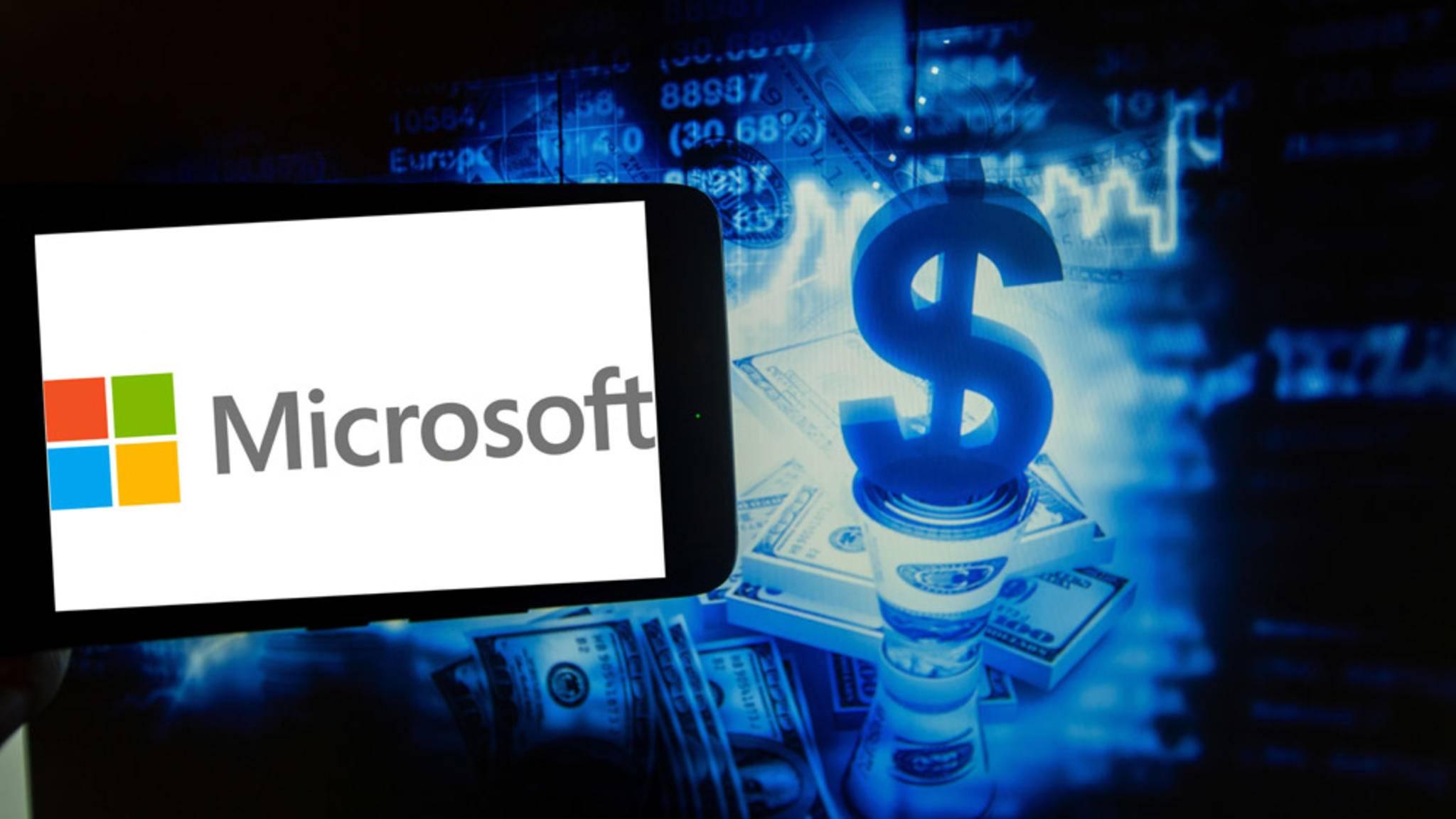 Microsoft hat Grund zur Freude: Außerordentlich starke Quartalszahlen katapultierten den Börsenwert nach oben.