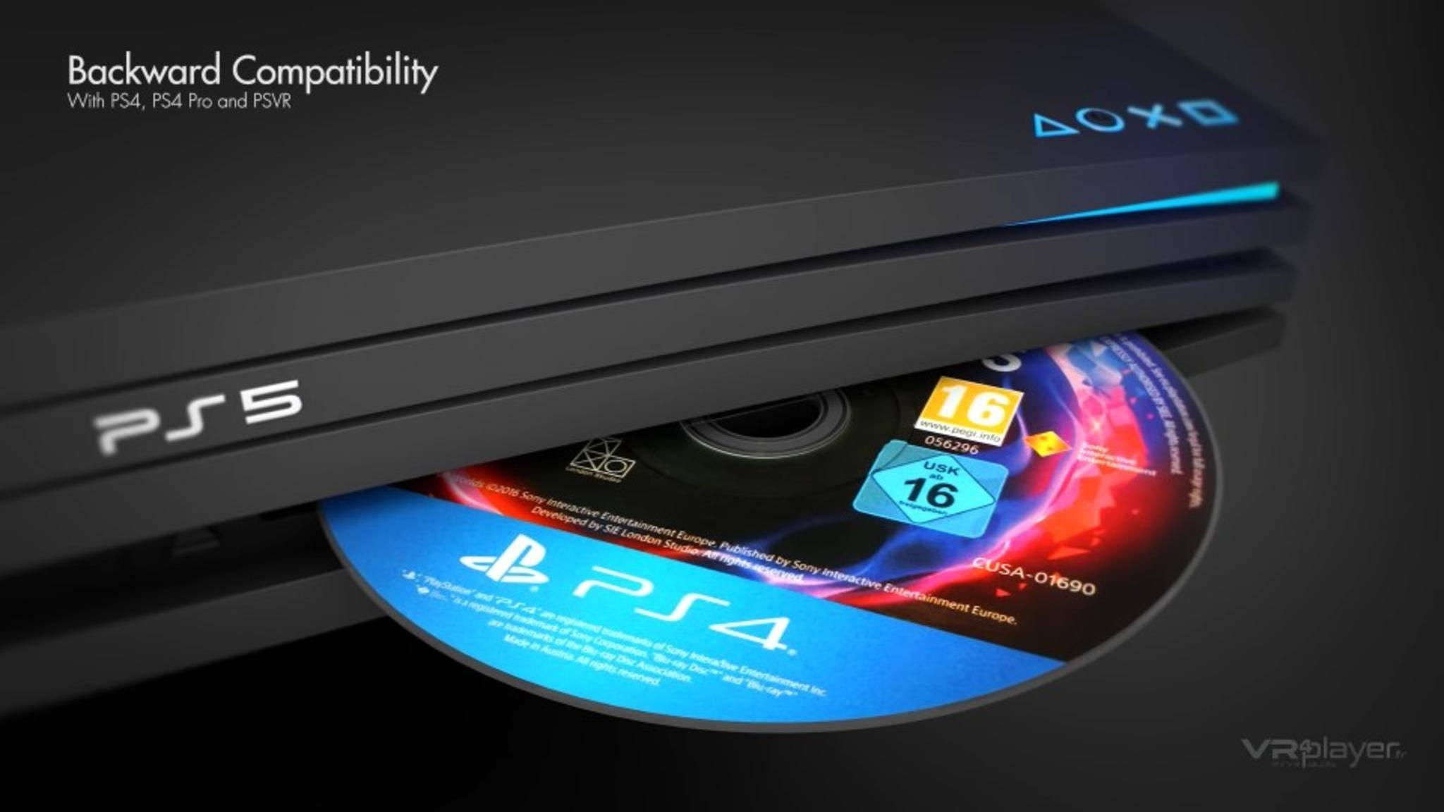 Läuft: PS4-Spiele in der PS5 (Konzeptbild).