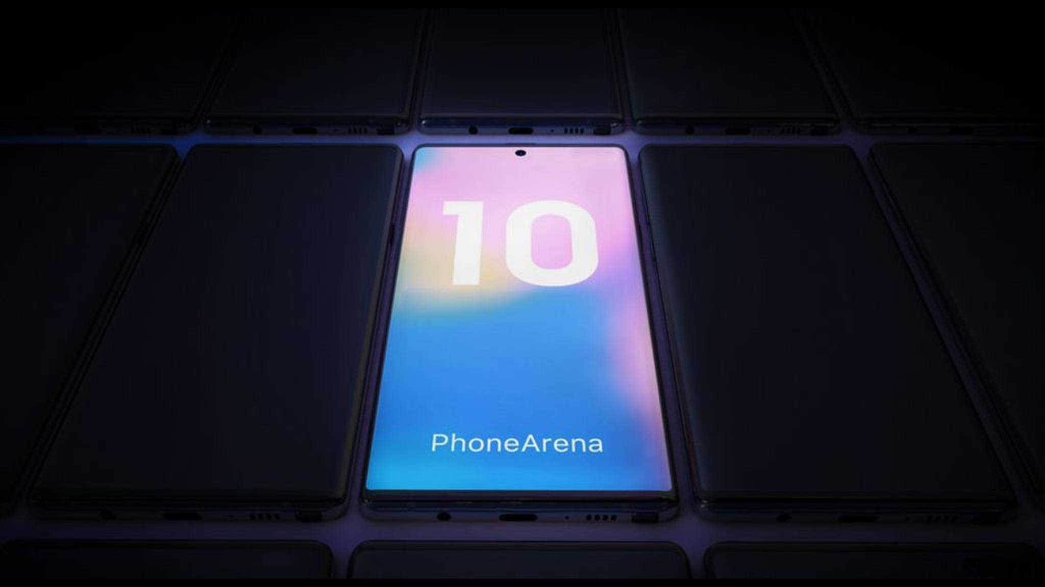 Das Samsung Galaxy Note 10 (Konzeptbild) soll die Selfie-Kamera in die obere Mitte des Displays versetzen.