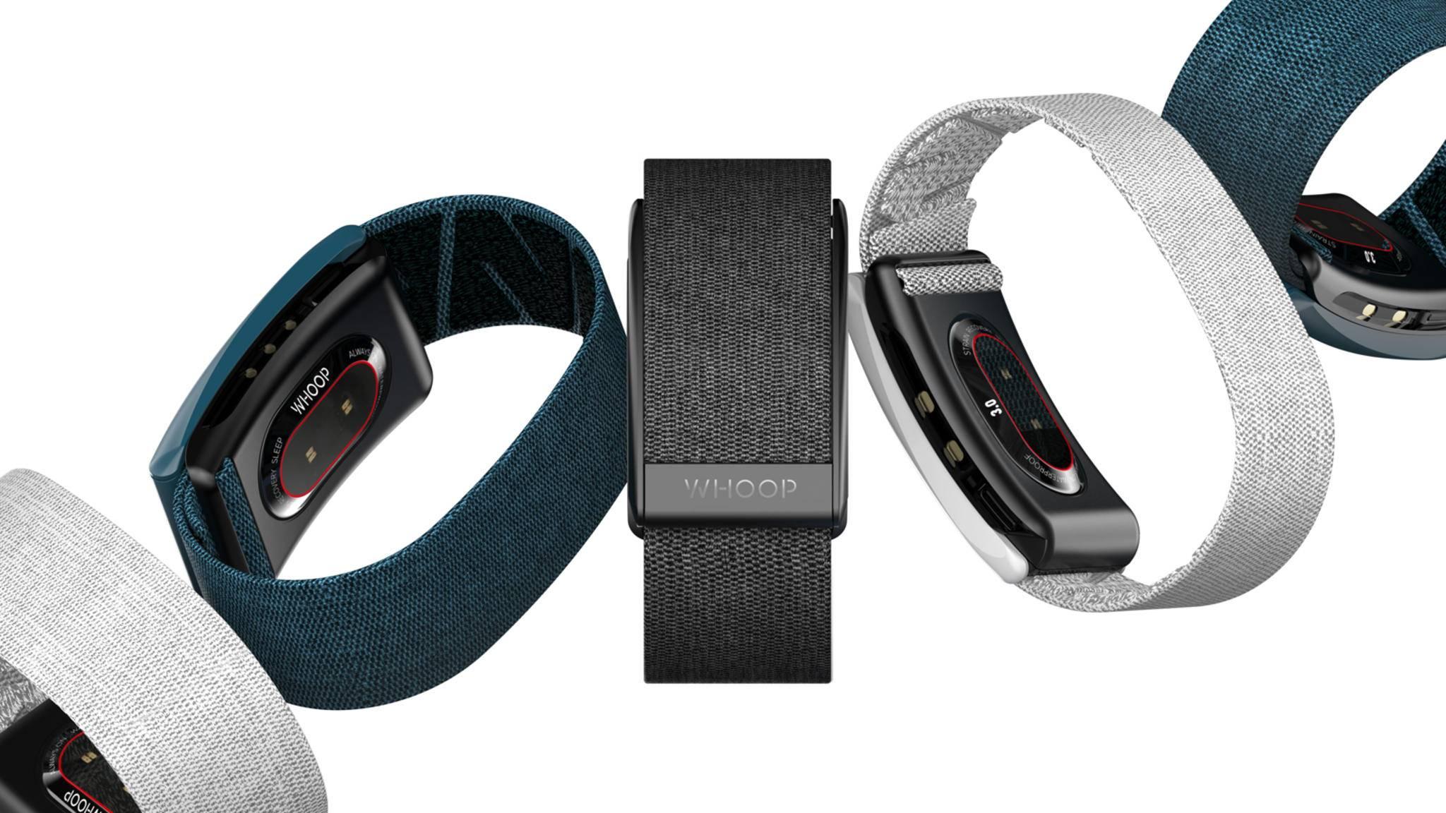 Neue Armbänder gibt's außerdem für Whoop Strap 3.