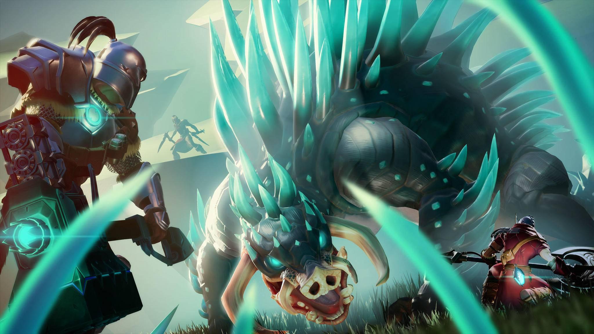 """Fette Viecher, mutige Jäger: Das Vorbild von """"Dauntless"""" ist unübersehbar."""