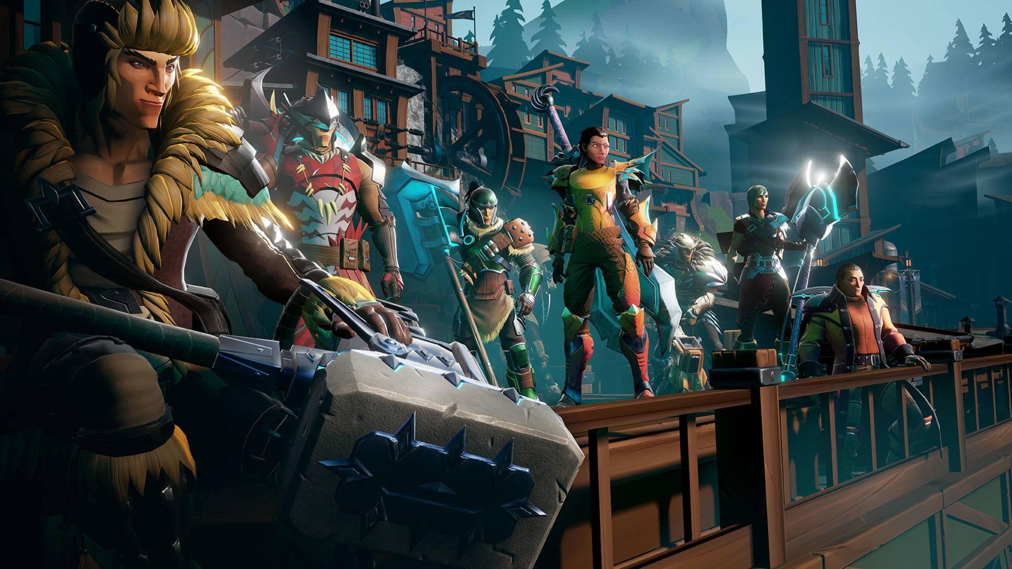 """""""Dauntless"""" kannst Du online mit Freunden über Konsolen und PC verteilt spielen."""