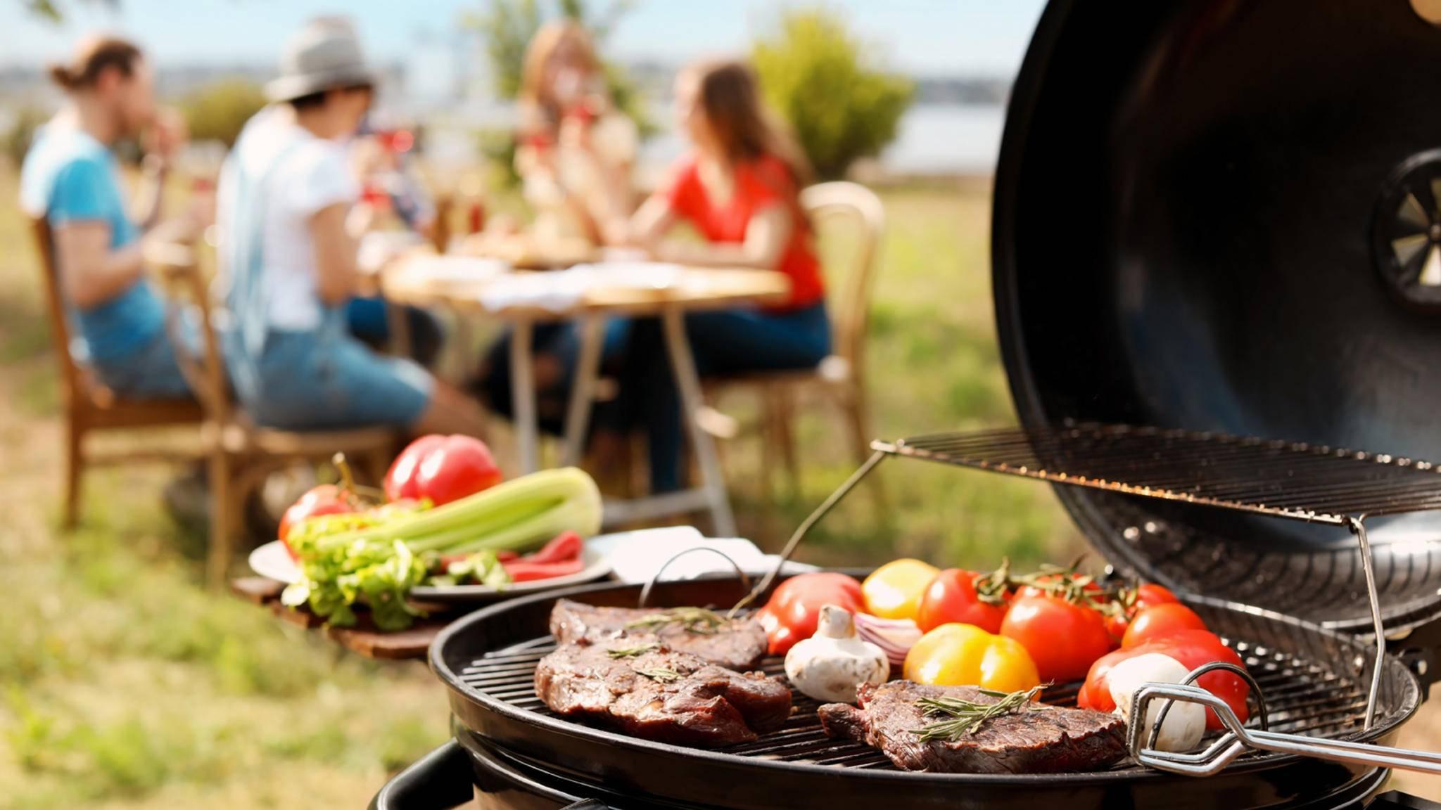 Grillen Fest Fleisch Gemüse