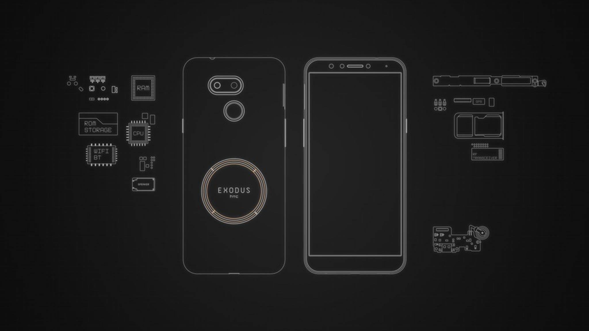 Das HTC Exodus 1s kann als vollwertiger Blockchain-Knotenpunkt agieren.