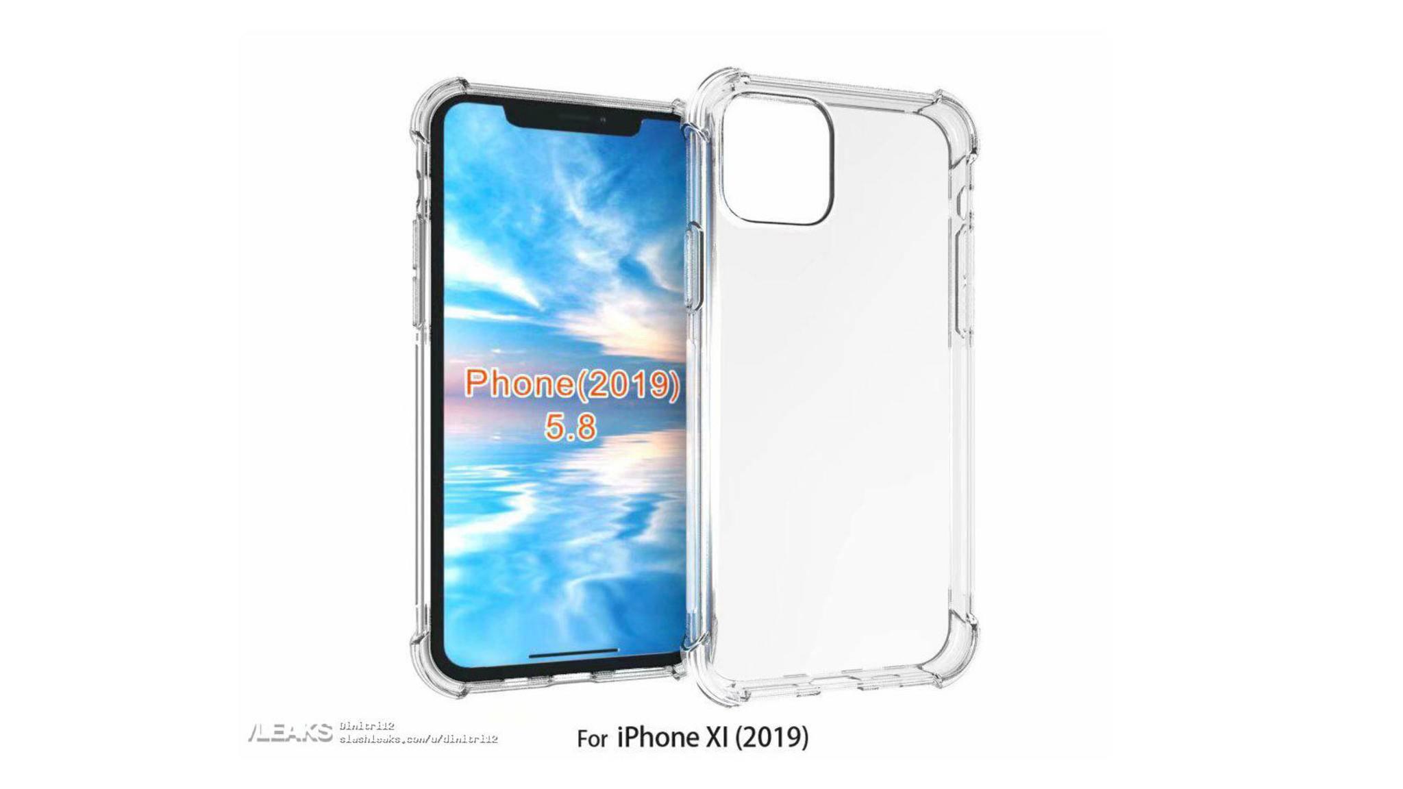 Von einem Case-Hersteller soll dieses Renderbild des iPhone 2019 stammen.