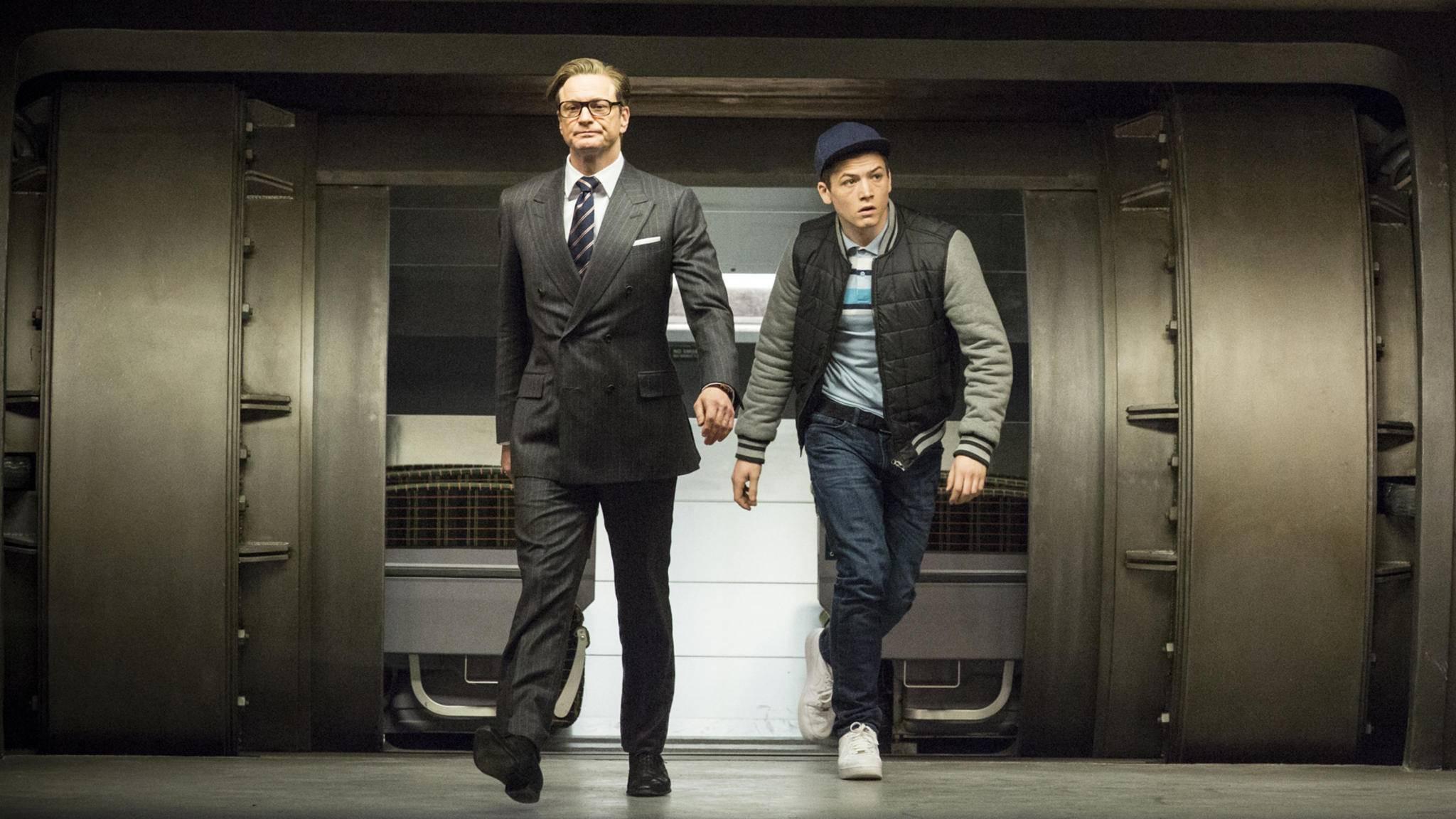 """Harry (Colin Firth) und Eggsy (Taron Egerton) werden in """"Kingsman 3"""" ihre letzte gemeinsame Mission absolvieren."""