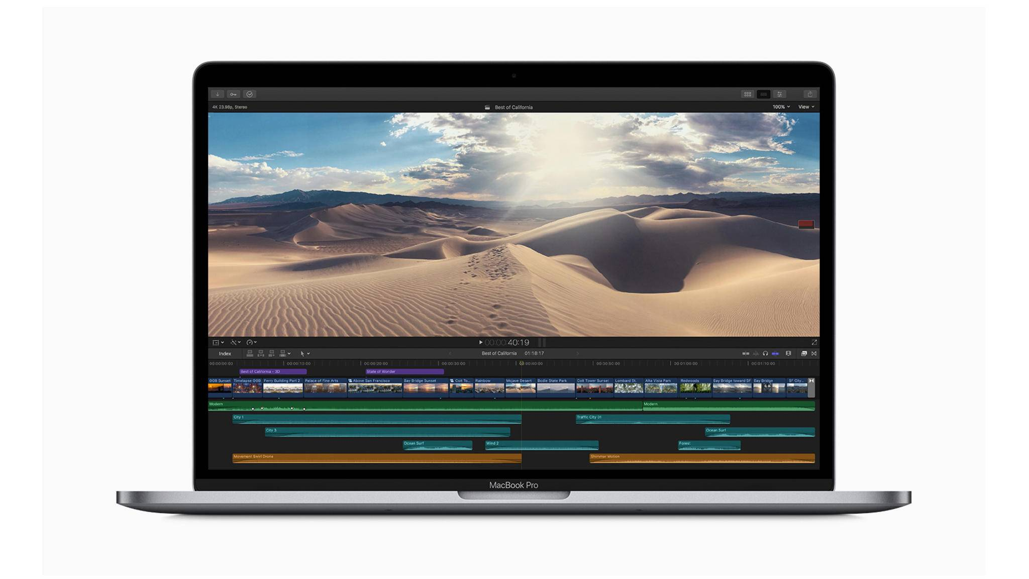 Erstmals mit schneller 8-Core-CPU erhältlich: das neue MacBook Pro mit 15 Zoll.