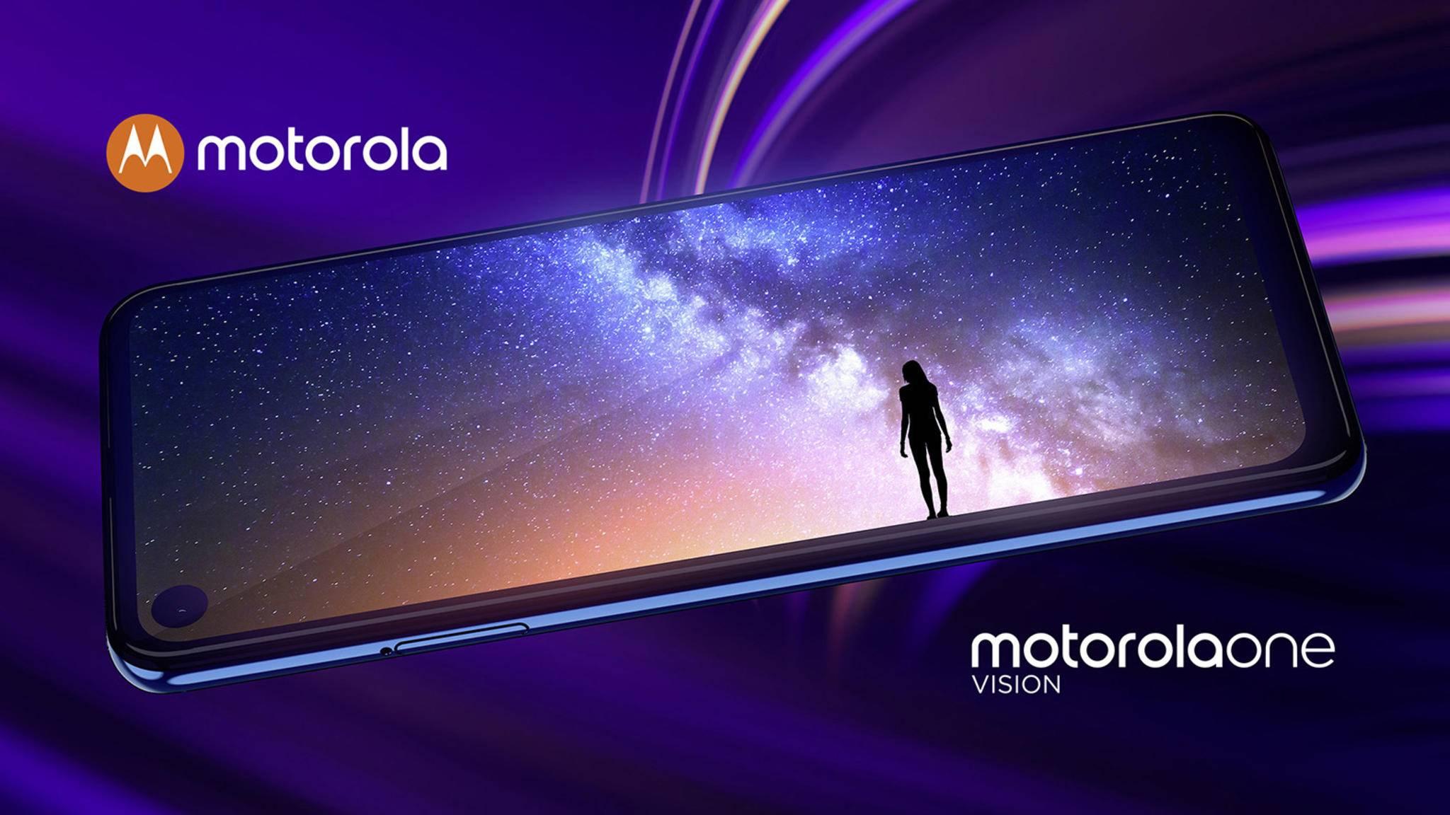 Sieht nicht nur schick aus, sondern hat auch ordentlich was zu bieten: das neue Motorola One Vision.