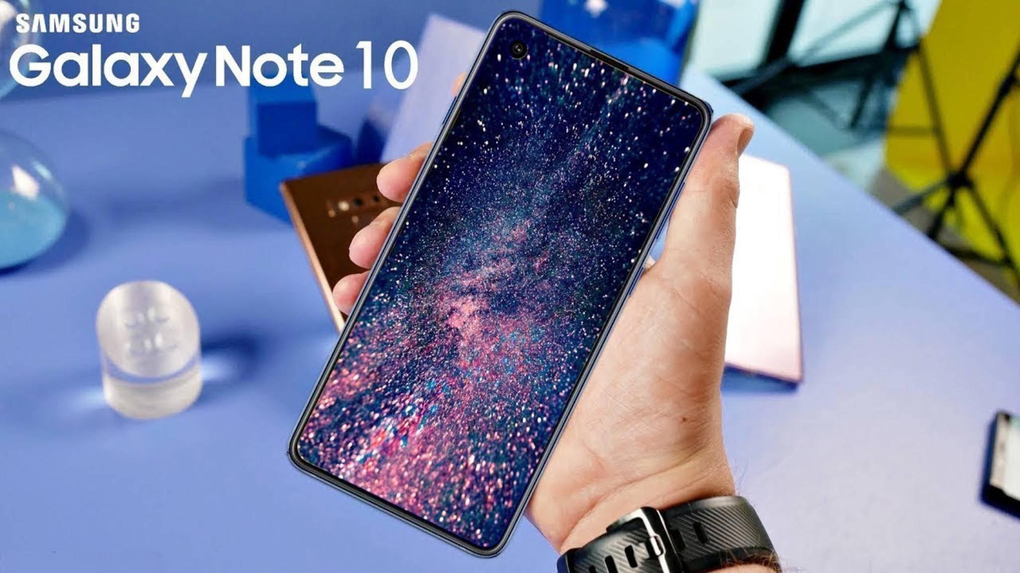 Wird schon das Galaxy Note 10 die Frontkamera unter dem Display verbaut haben?