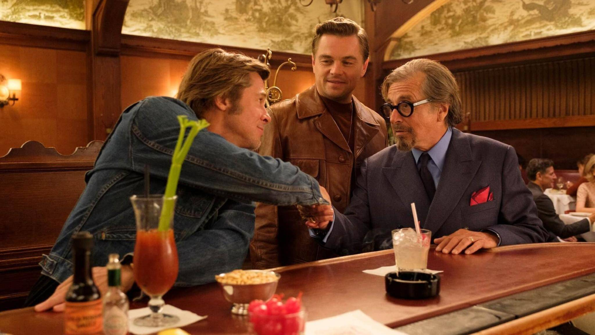 """Once Upon A Time in Hollywood"" mit Brad Pitt, Leonardo DiCaprio und Al Pacino."