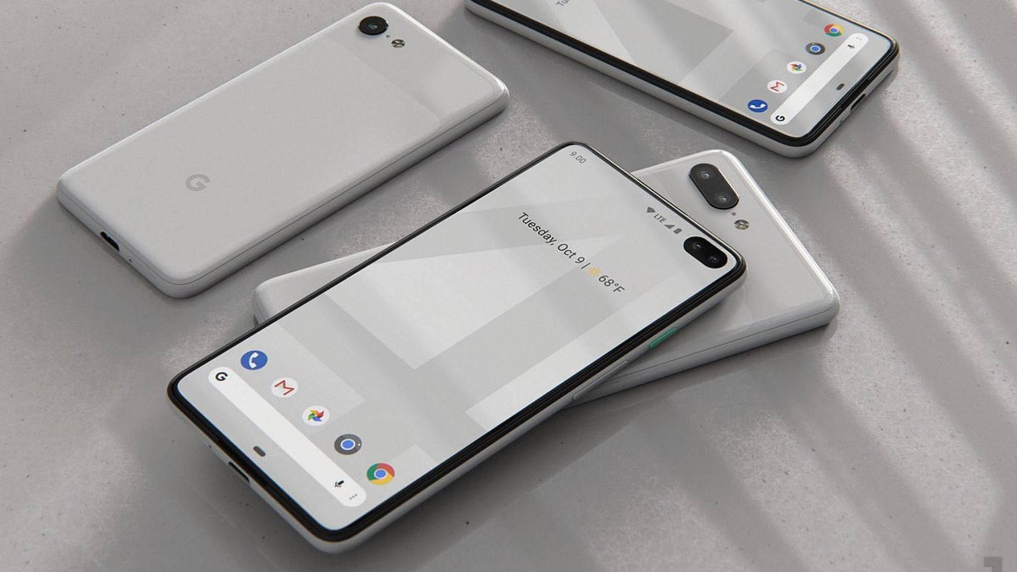 Das Pixel 4 könnte optisch deutlich moderner daherkommen als das Pixel 3.