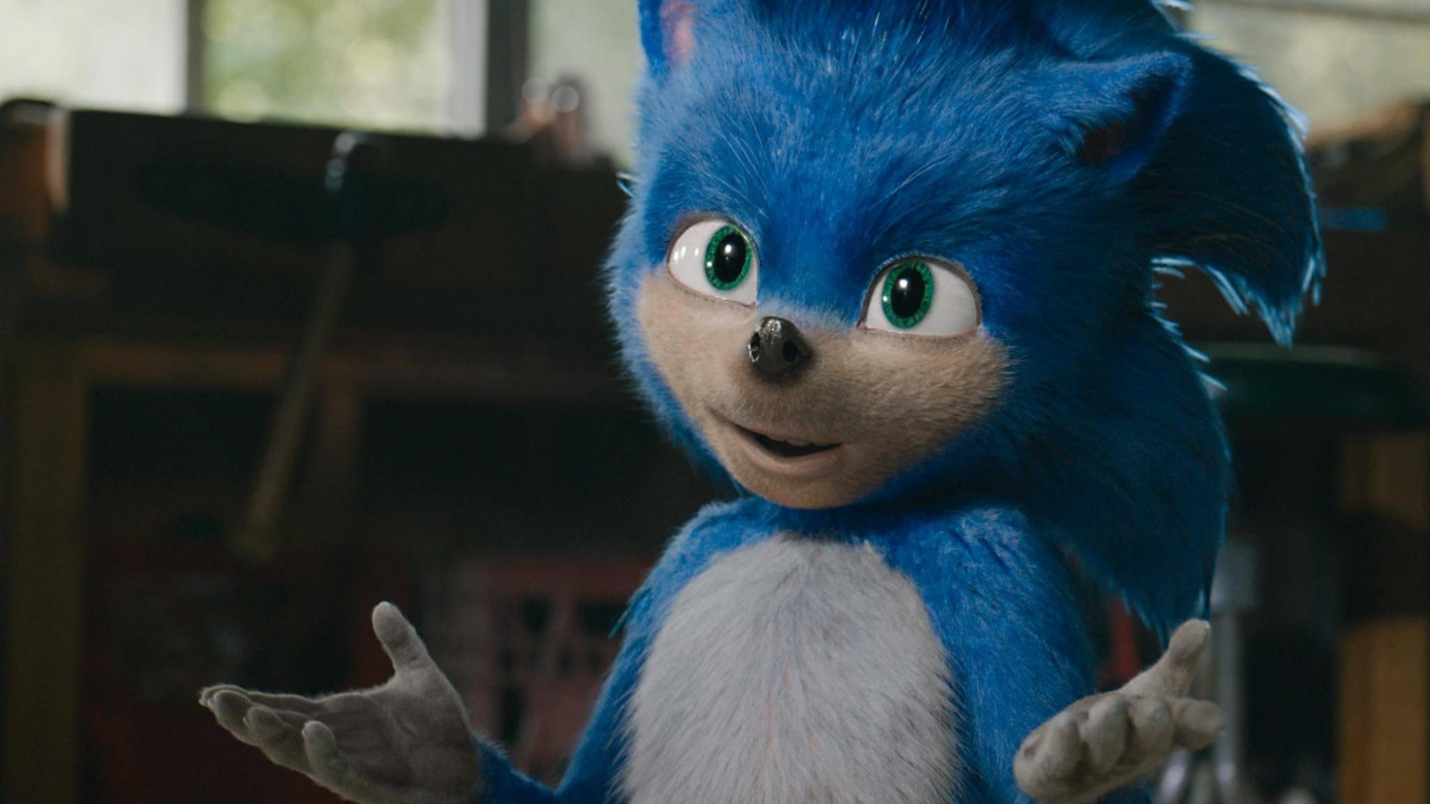 """""""Tut mir Leid, Leute, ich muss nochmal unters CGI-Messer!"""" – Rennigel """"Sonic"""" bekommt einen neuen Look."""