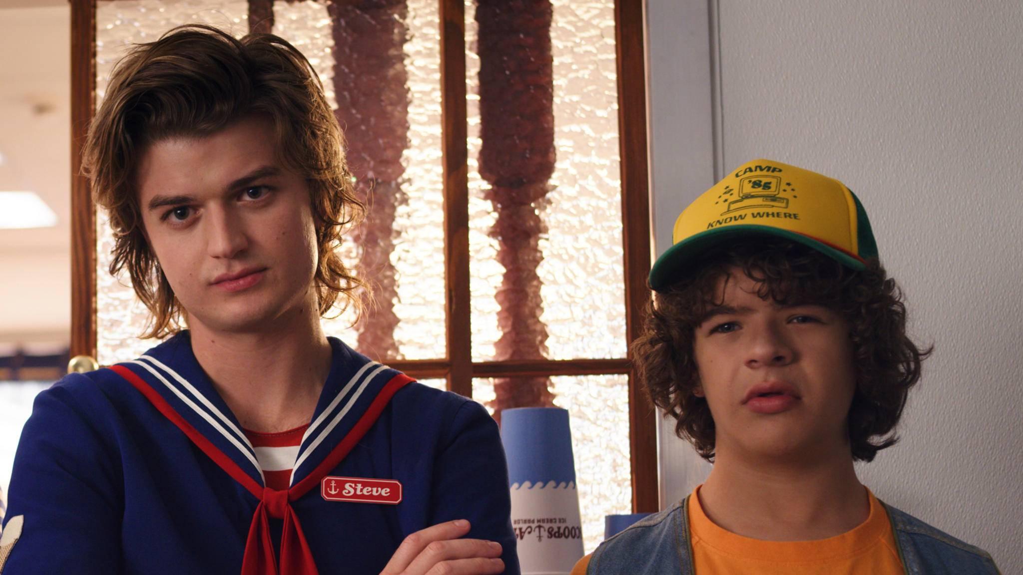 Steve (Joe Keery) und Dustin (Gaten Matarazzo) geben auch in Staffel 3 das dynamische Duo.