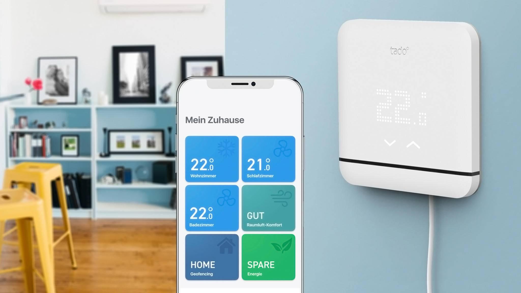 Die smarte Klimaanlagen-Steuerung von Tado soll das Raumklima optimieren und Deine Heizkosten senken.
