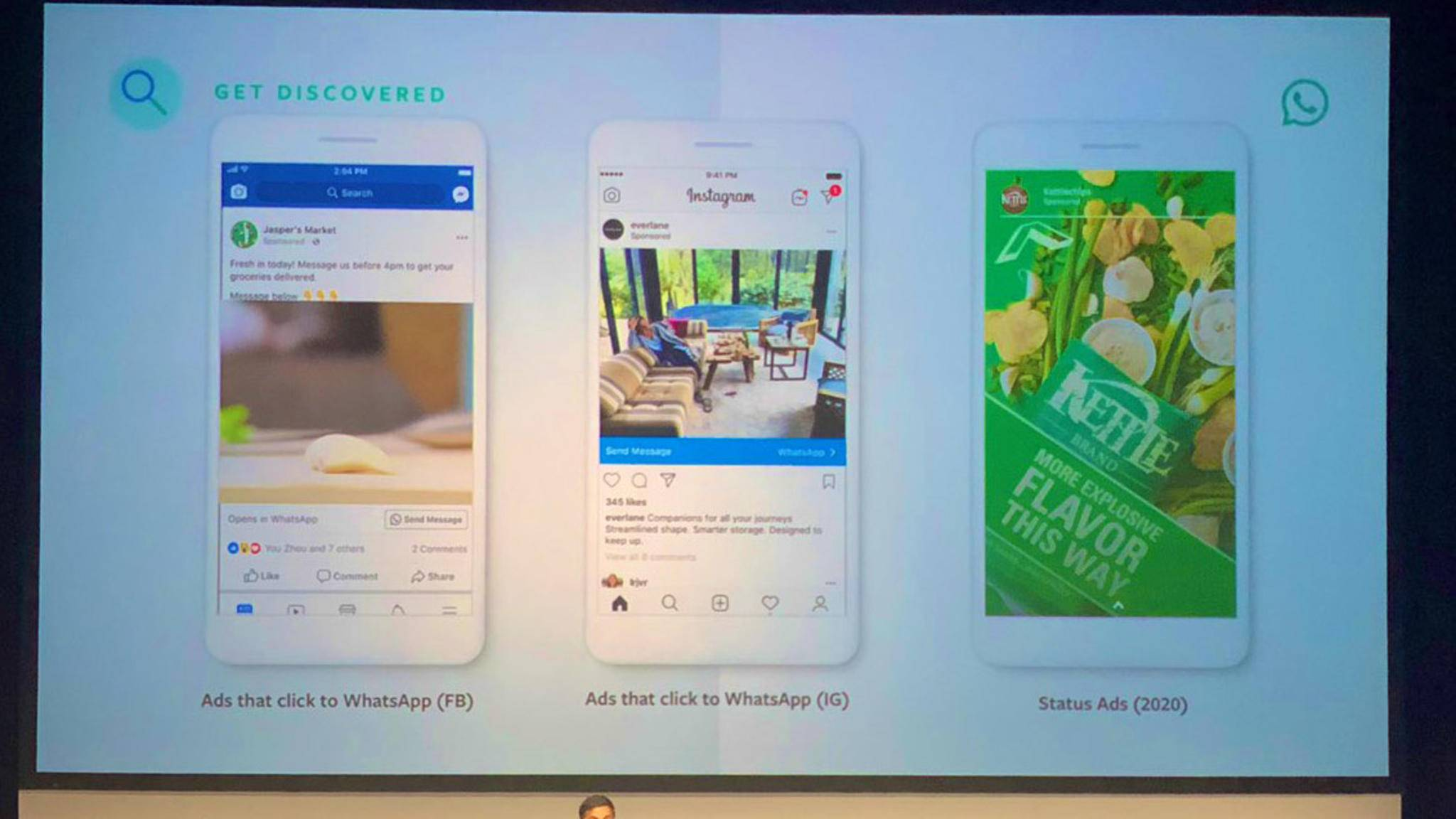 Ab dem kommenden Jahr werden sogenannte Stories Ads in WhatsApp ausgespielt.