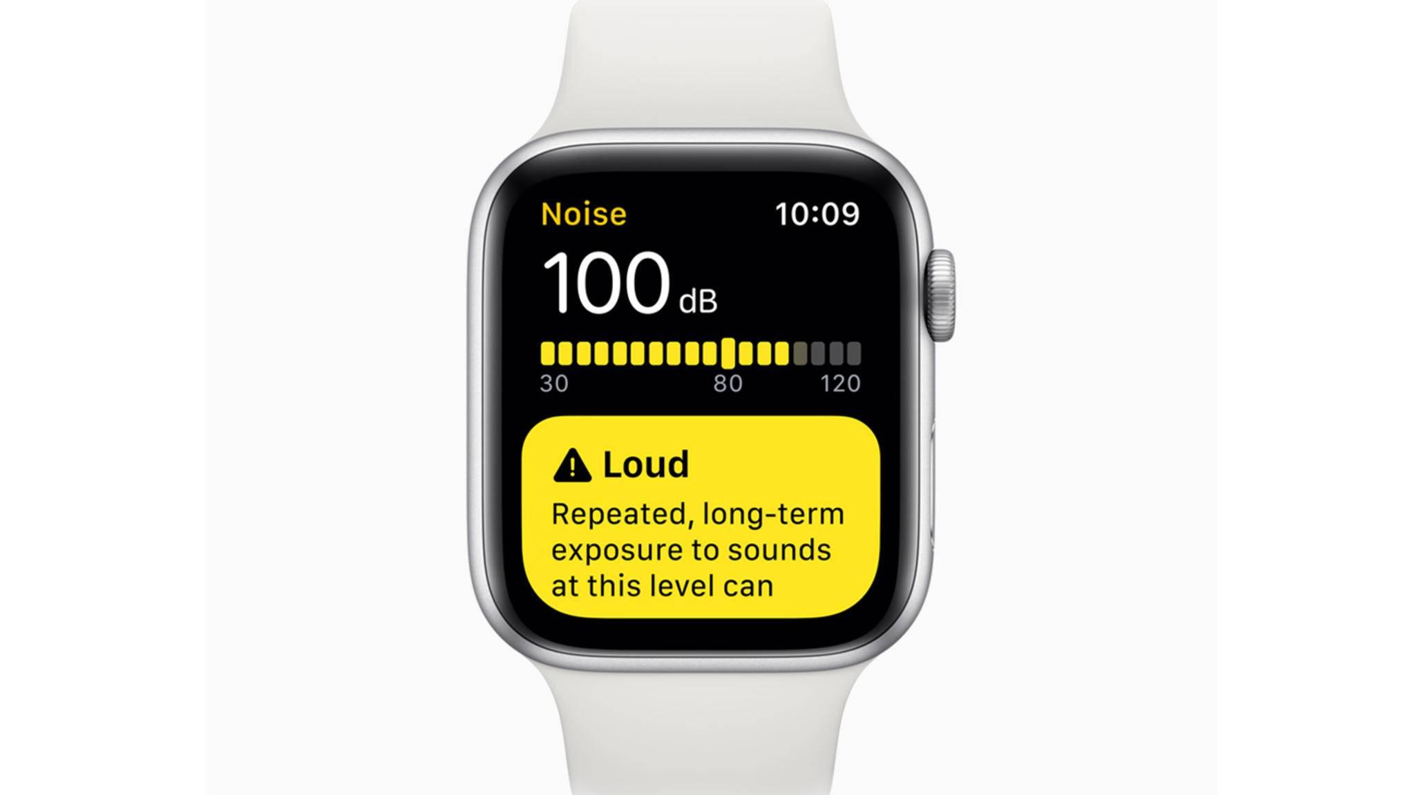 Die Noise App soll Nutzer der Apple Watch vor Hörschäden schützen.