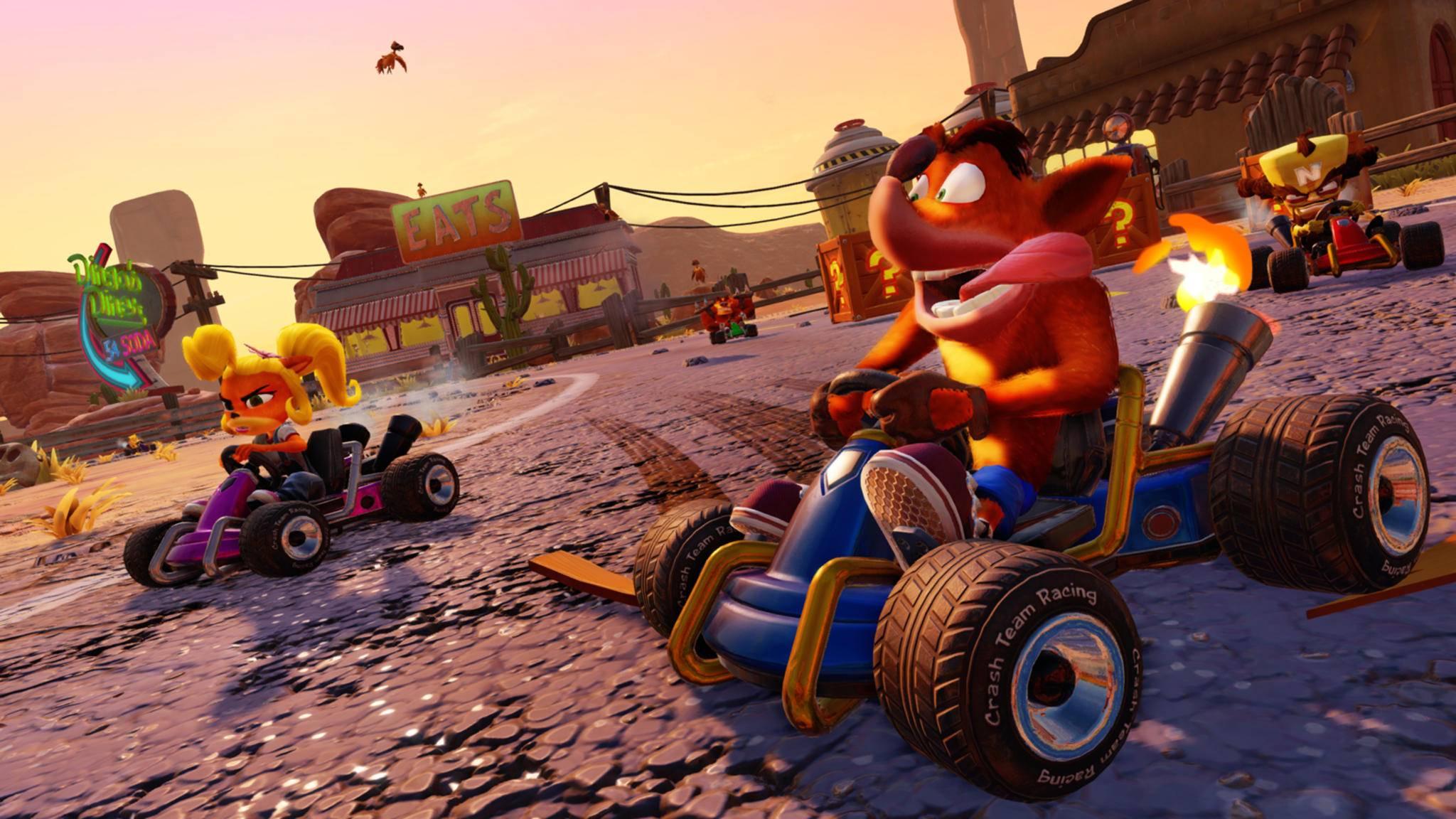 """Mit bestimmten Cheats kannst Du Dir bei """"Crash Team Racing Nitro-Fueled"""" einige Vorteile verschaffen."""