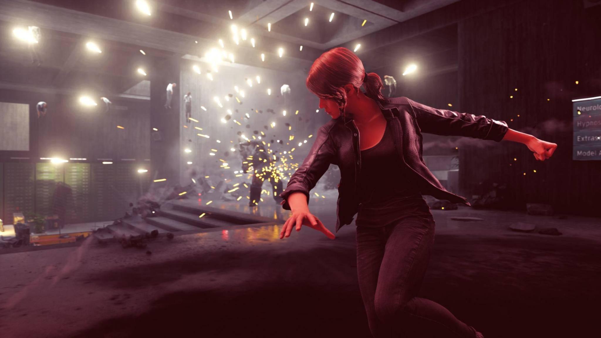 """Ihr Geist ist eine tödliche Waffe: Jesse Faden checkt erst mal gar nix in """"Control""""."""