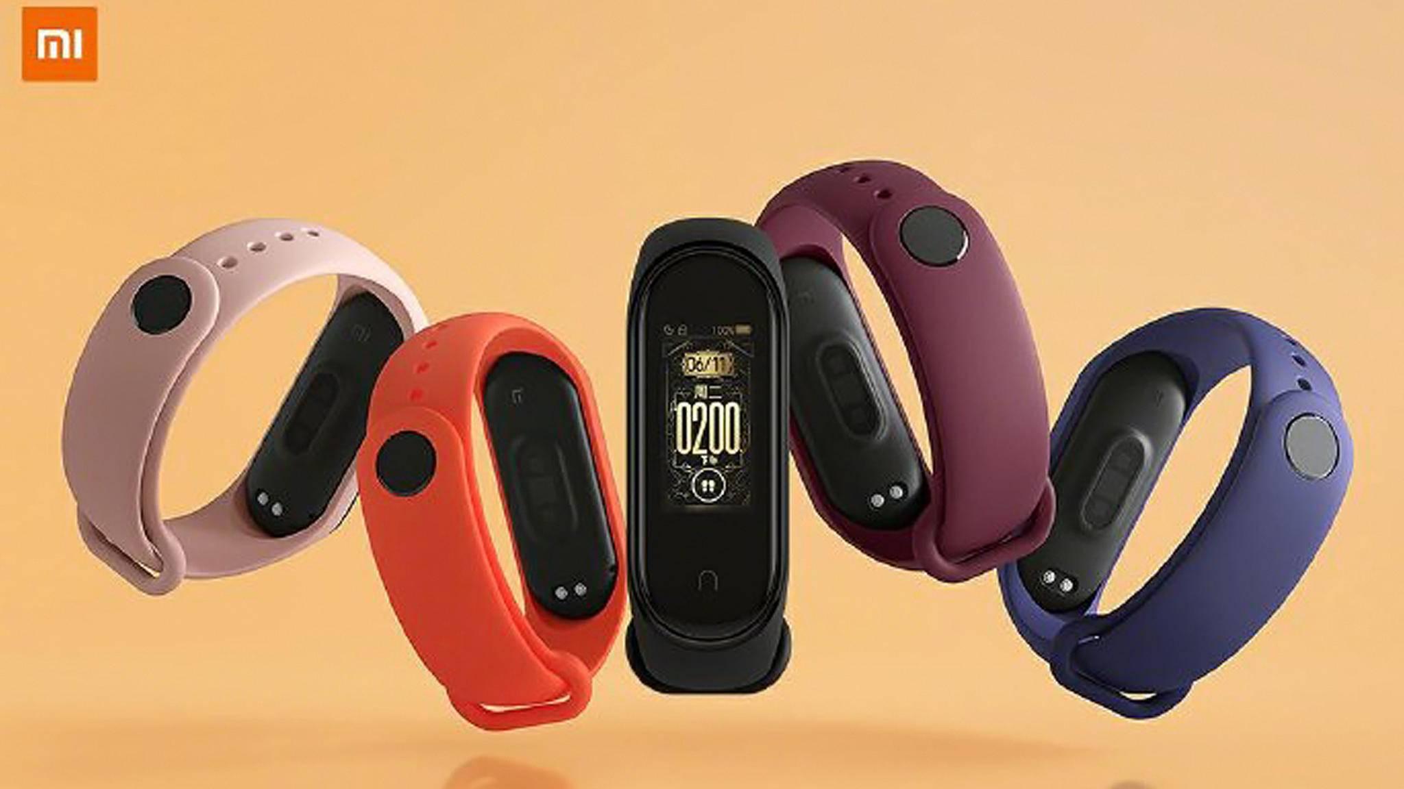 Das Mi Band 4 (im Bild) kam noch in unterschiedlichen Farben auf den Markt. Die Modelle des Mi Band 5 werden sich auch bei der Ausstattung unterscheiden.