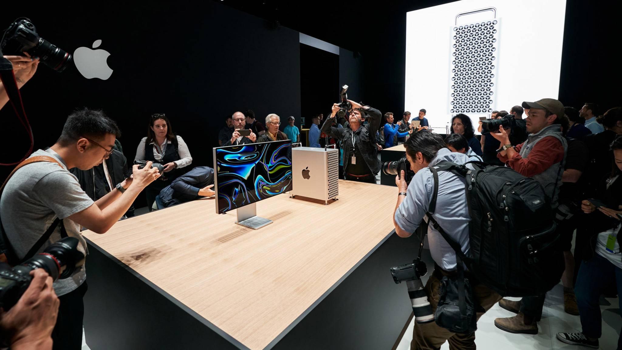 Staunende Gesichter: Der neue Mac Pro ist eines der WWDC-19-Highlights.