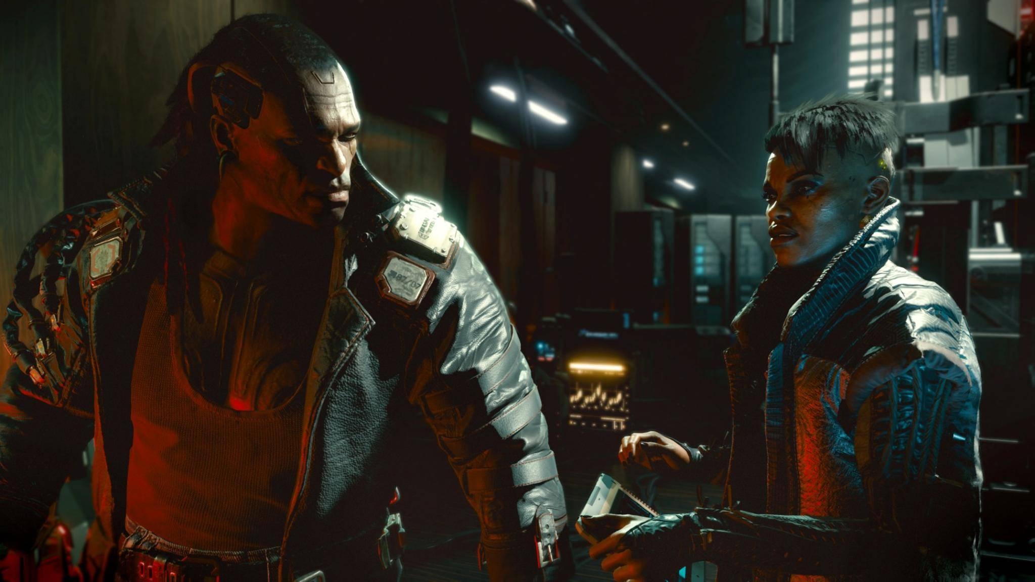 """Sprachen in """"Cyberpunk 2077"""": Die Voodoo-Boys-Gang spricht eine Mischung aus Englisch und Französisch."""