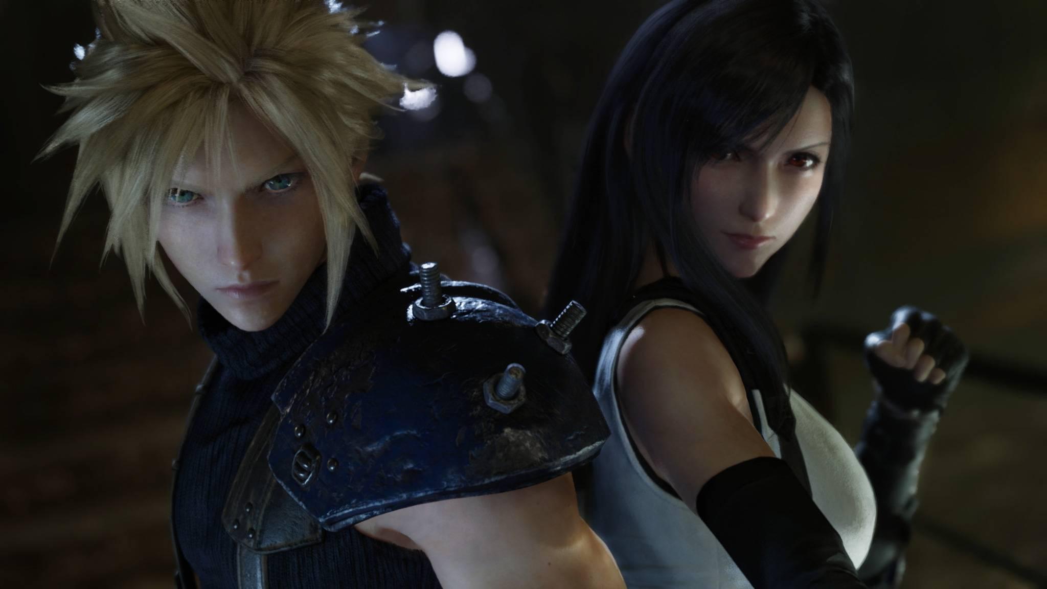 """Brauchen noch etwas Zeit: Cloud & Tifa aus """"Final Fantasy 7""""."""