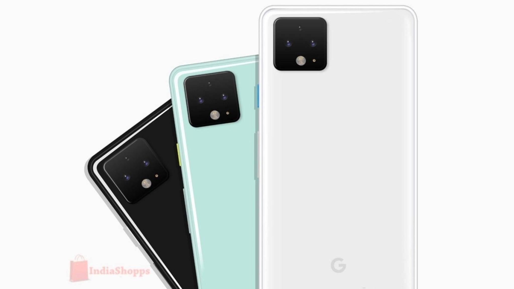 Google Pixel 4: Renderbilder zeigen Front und neue Farbe