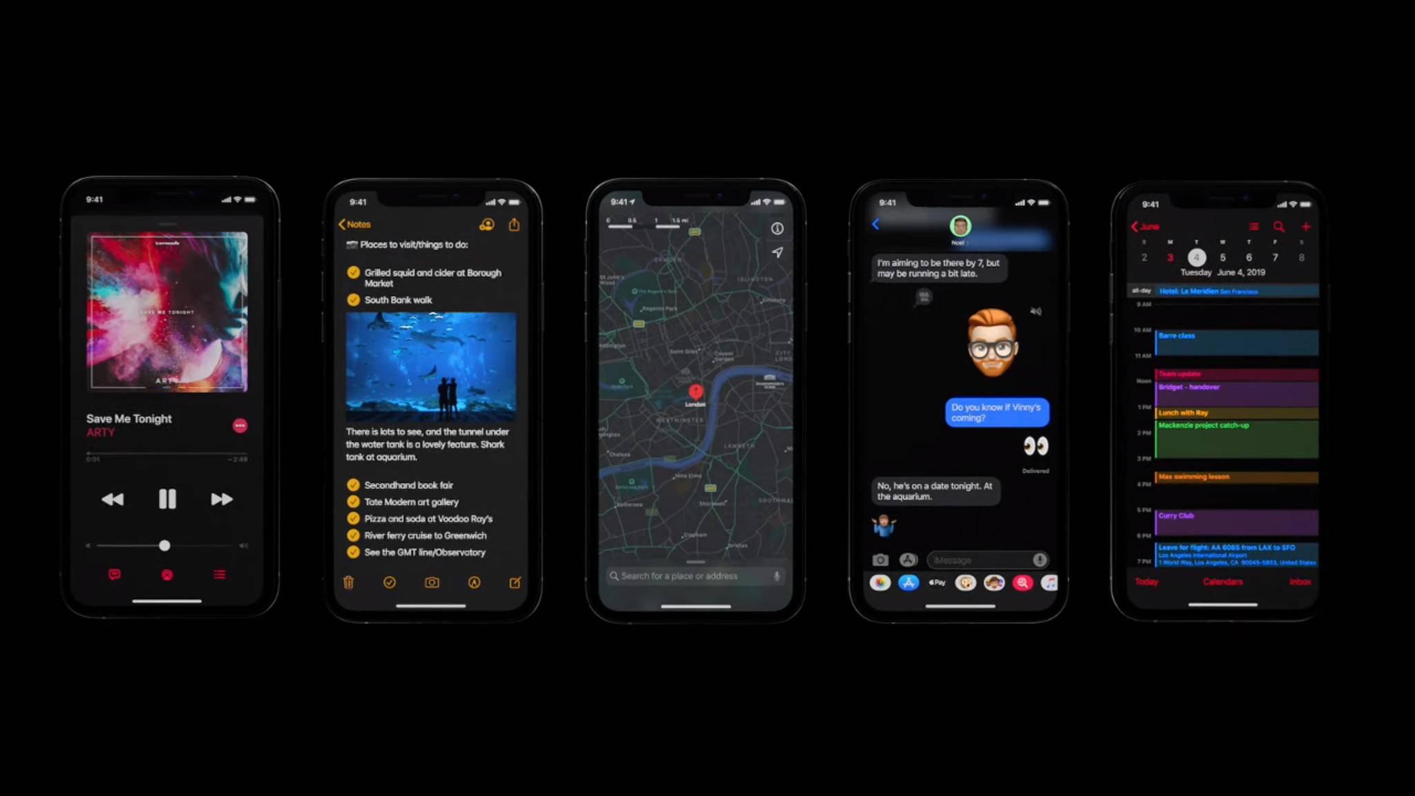 iOS 13 hat jetzt einen Dark Mode ... ein paar andere Features fehlen aber weiterhin.