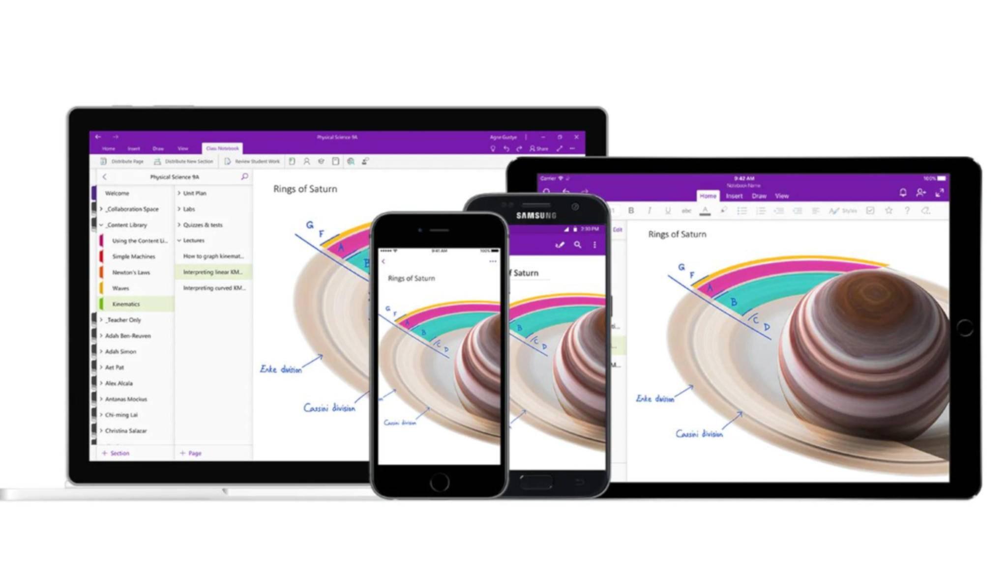 Mit OneNote kannst Du Notizen machen und sie multimedial aufbereiten.