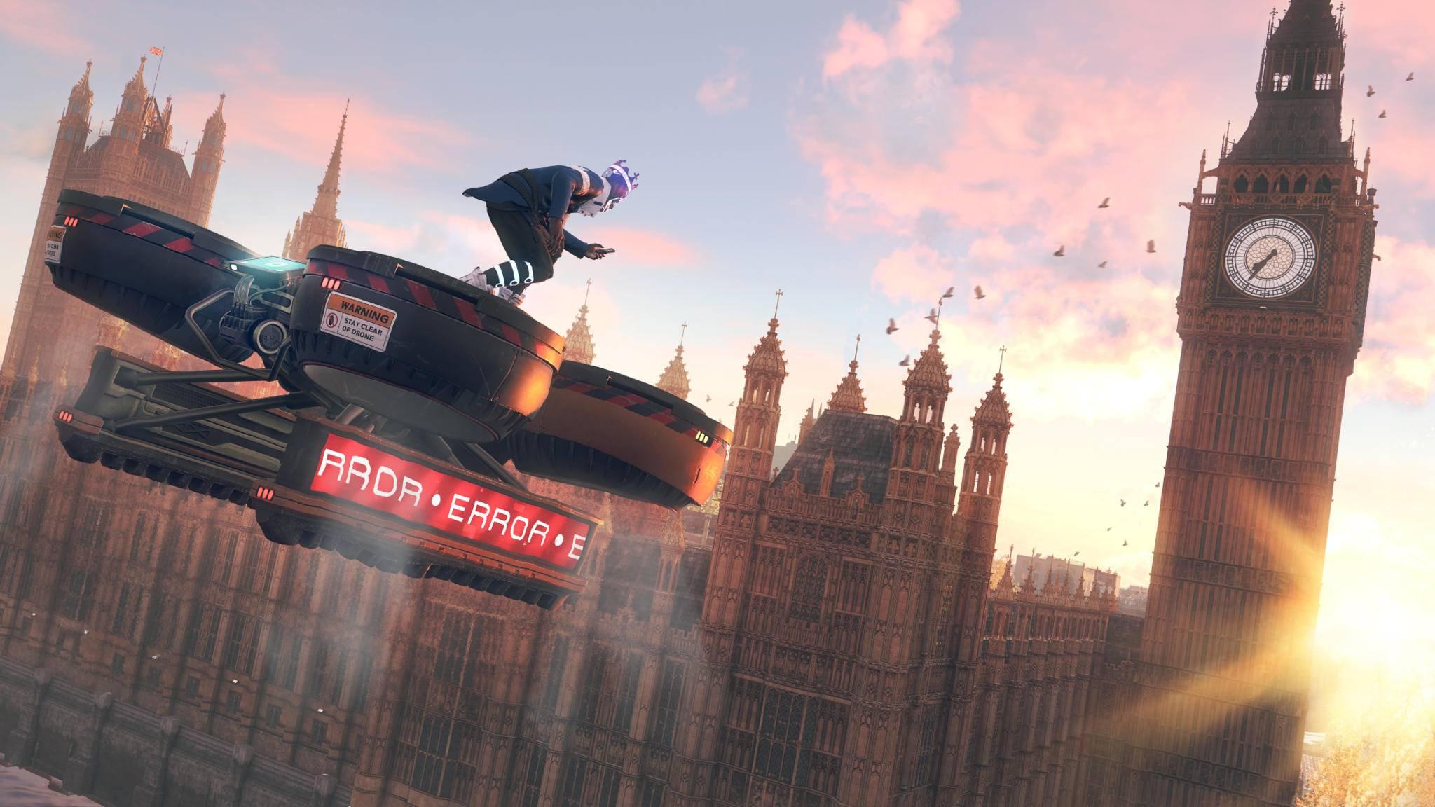 """Wie weit ist's vom Big Ben nach Camden? """"Fünf Minuten wie die Drohne fliegt."""""""