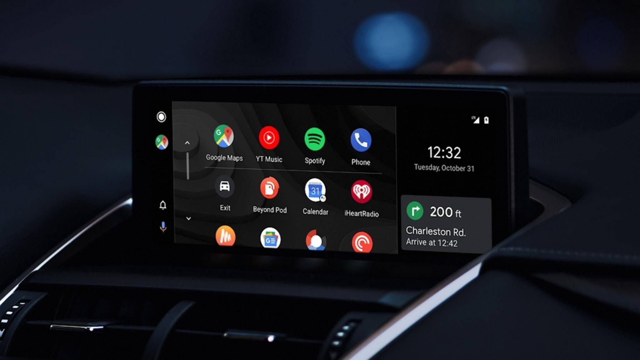 So sieht das neue Android Auto aus.