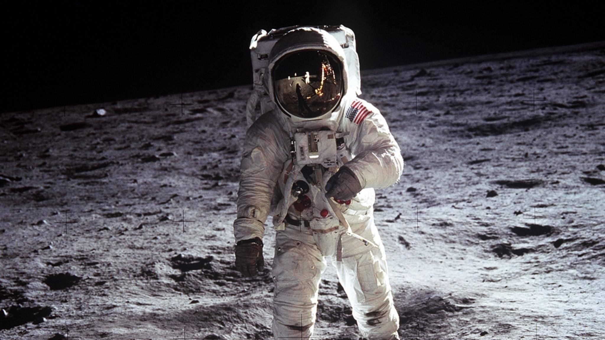 Buzz Aldrin während der Apollo-11-Mission auf dem Mond.
