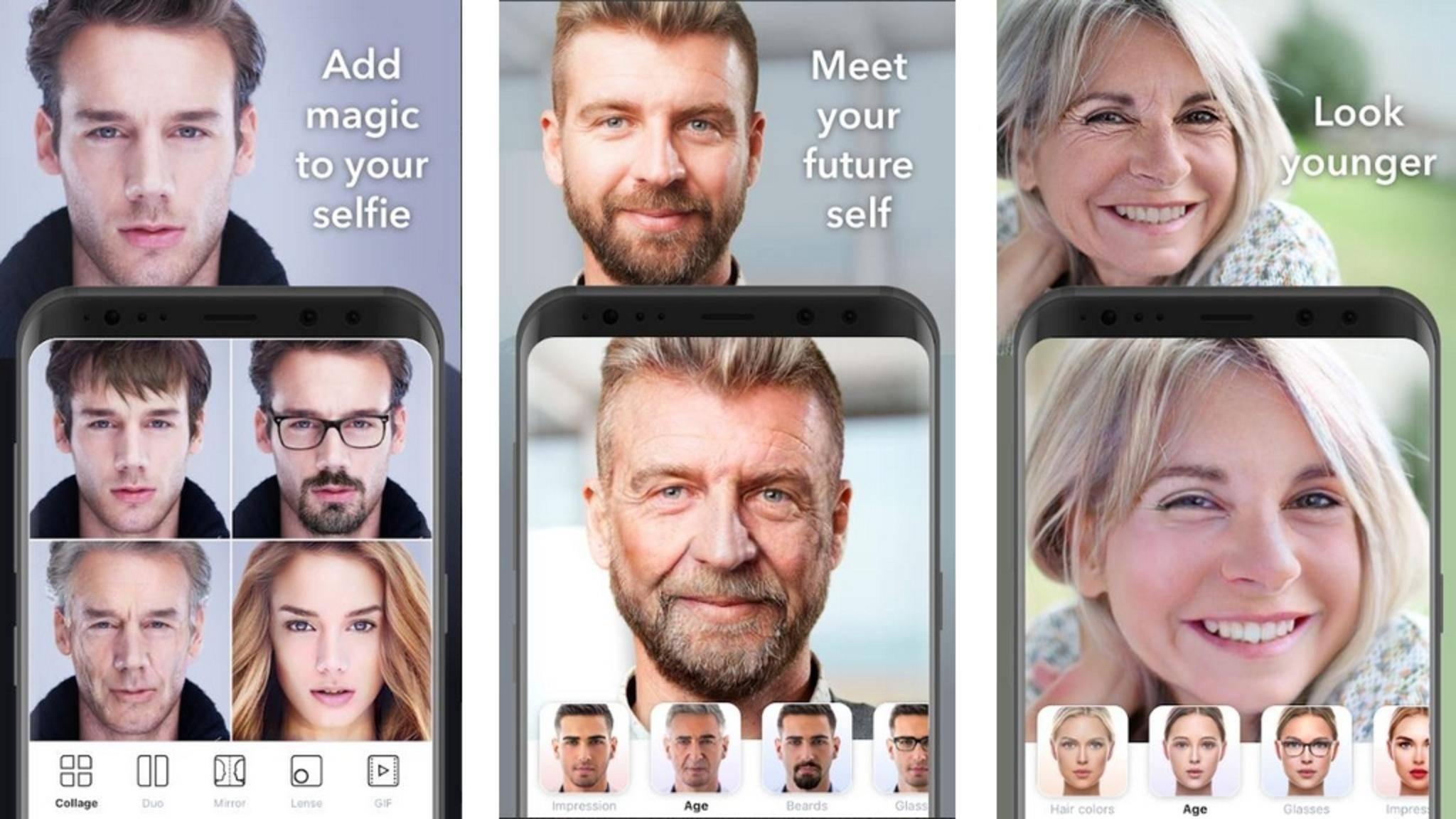 FaceApp kann Dich jünger oder älter aussehen lassen.