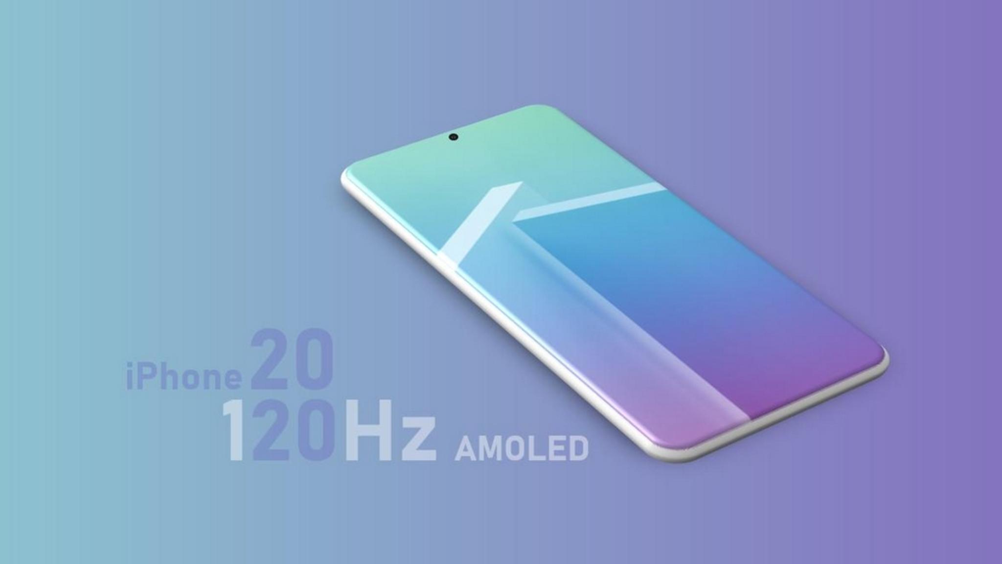 Das iPhone 2020 setzt angeblich auf ein 120-Hz-Display.