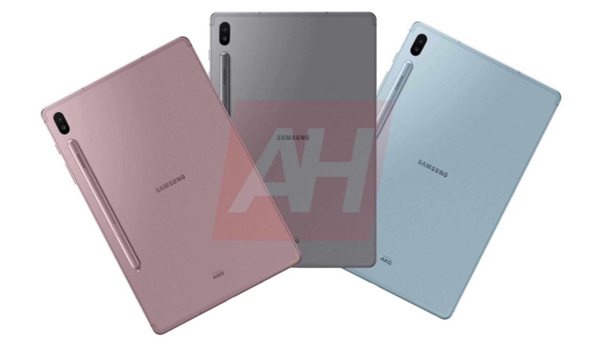So soll das Samsung Galaxy Tab S6 aussehen.