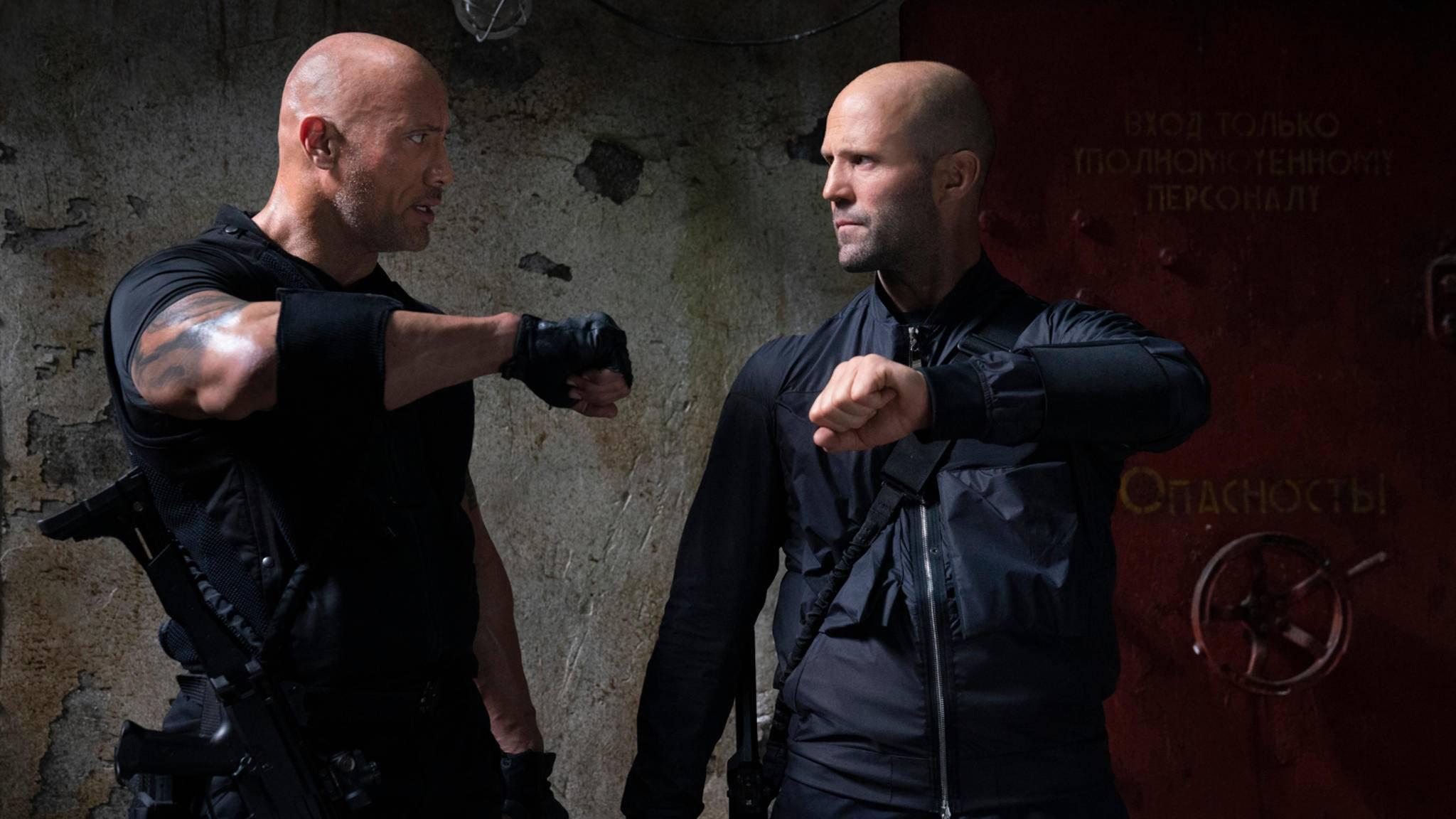 """Dwayne Johnson und Jason Statham werden in """"Fast & Furious: Hobbs & Shaw"""" unfreiwillig zum Team."""