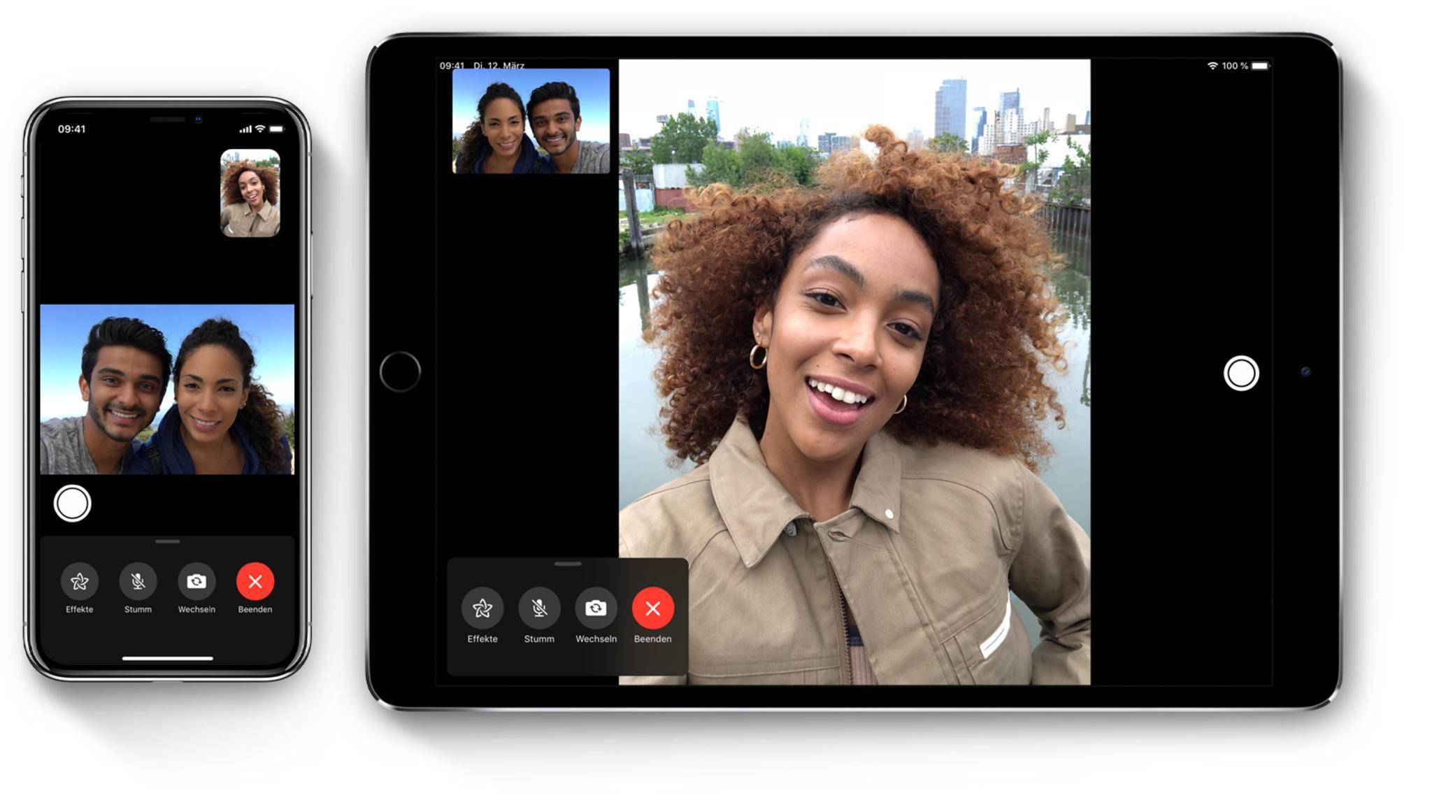 In iOS 13 kann FaceTime künstlich Augenkontakt zwischen Dir und Deinem Gesprächspartner herstellen.