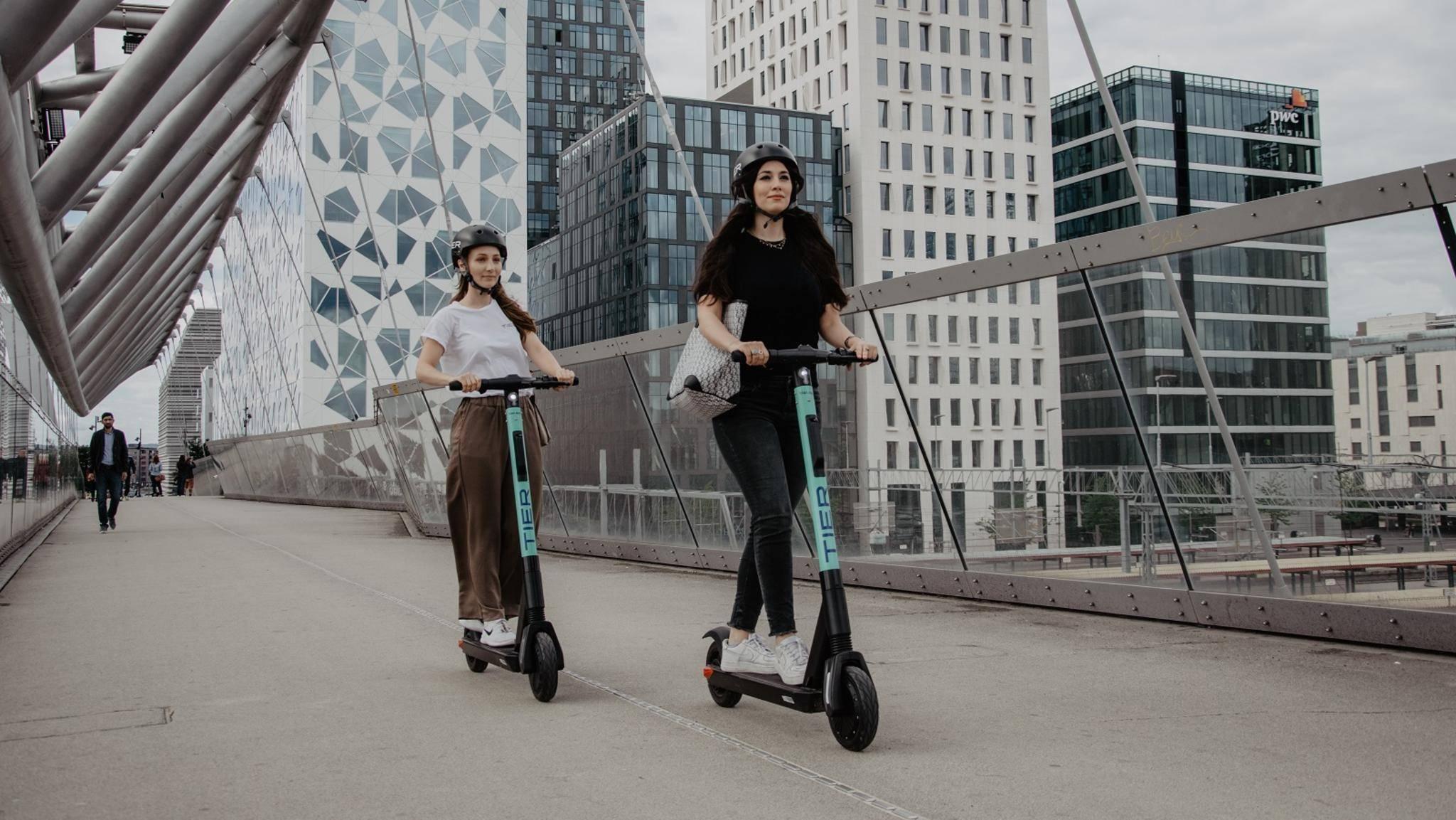Mit E-Scootern in der Stadt unterwegs