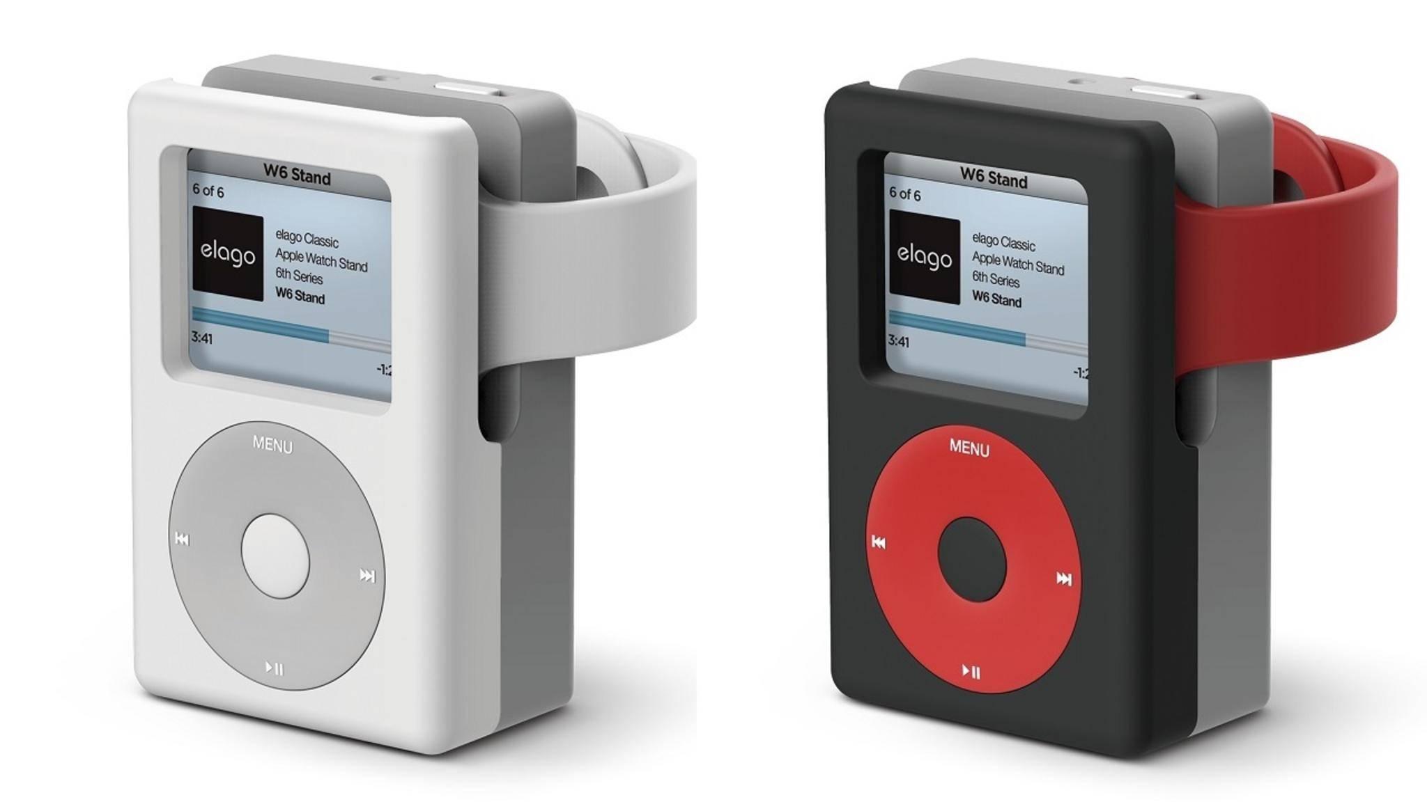 Diese Halterung von Elago verwandelt Deine Apple Watch in einen iPod classic.