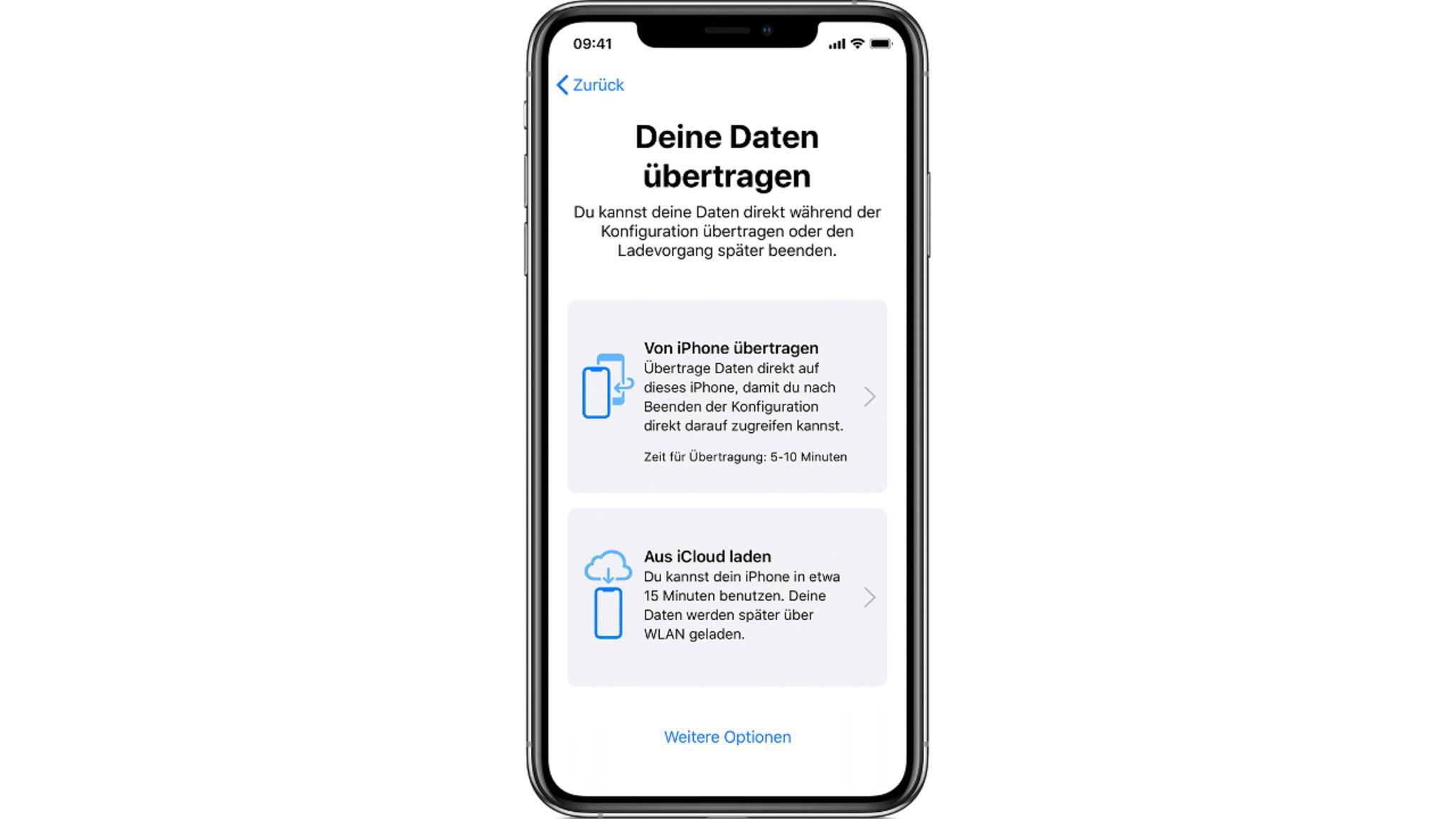 iPhone-Migration Daten übertragen