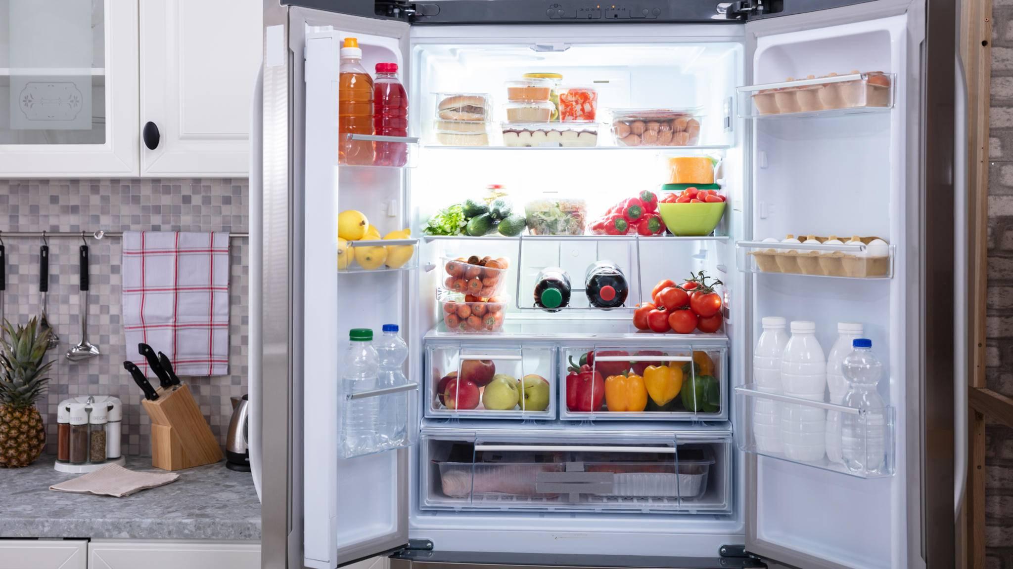 Kühlschrank küche offen lebensmittel
