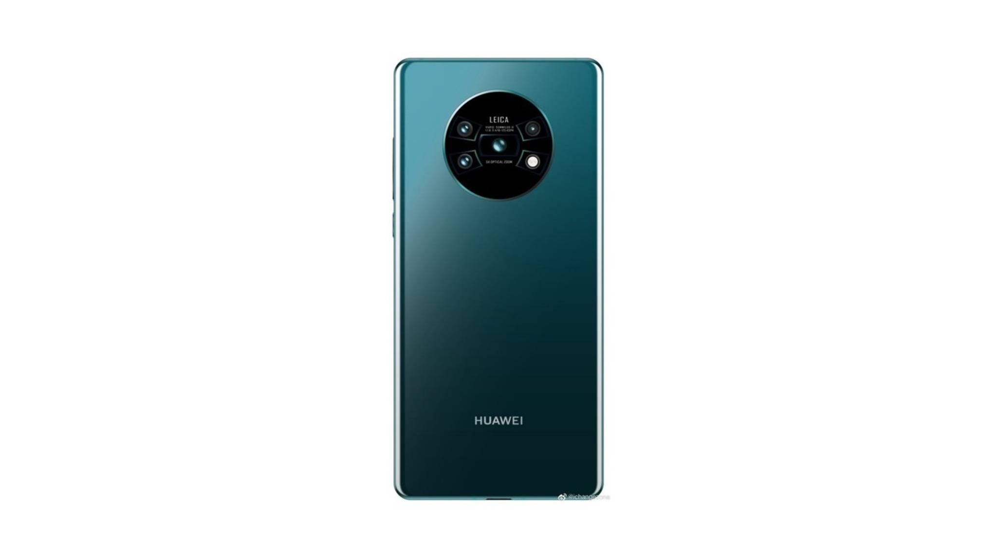So könnte die Rückseite des Huawei Mate 30 (Pro) aussehen.