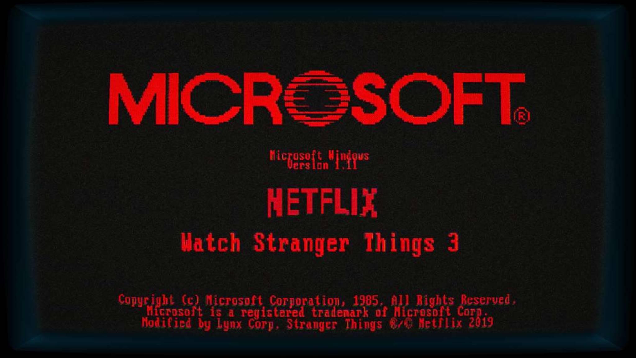 """Windows 1.11 ist ein kleines Spiel zu """"Stranger Things 3""""."""